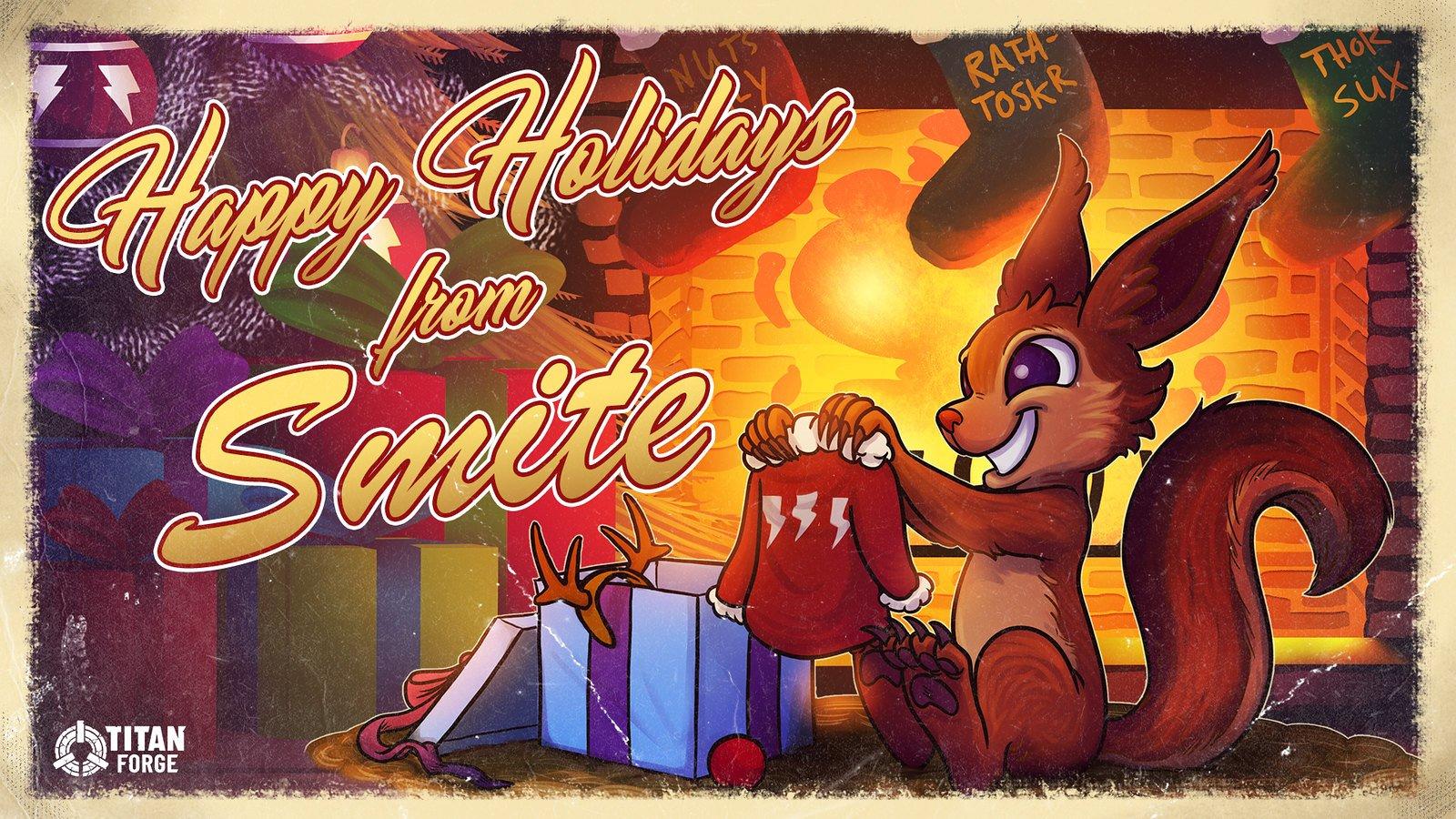 Titan Forge Happy Holidays wallpaper theme