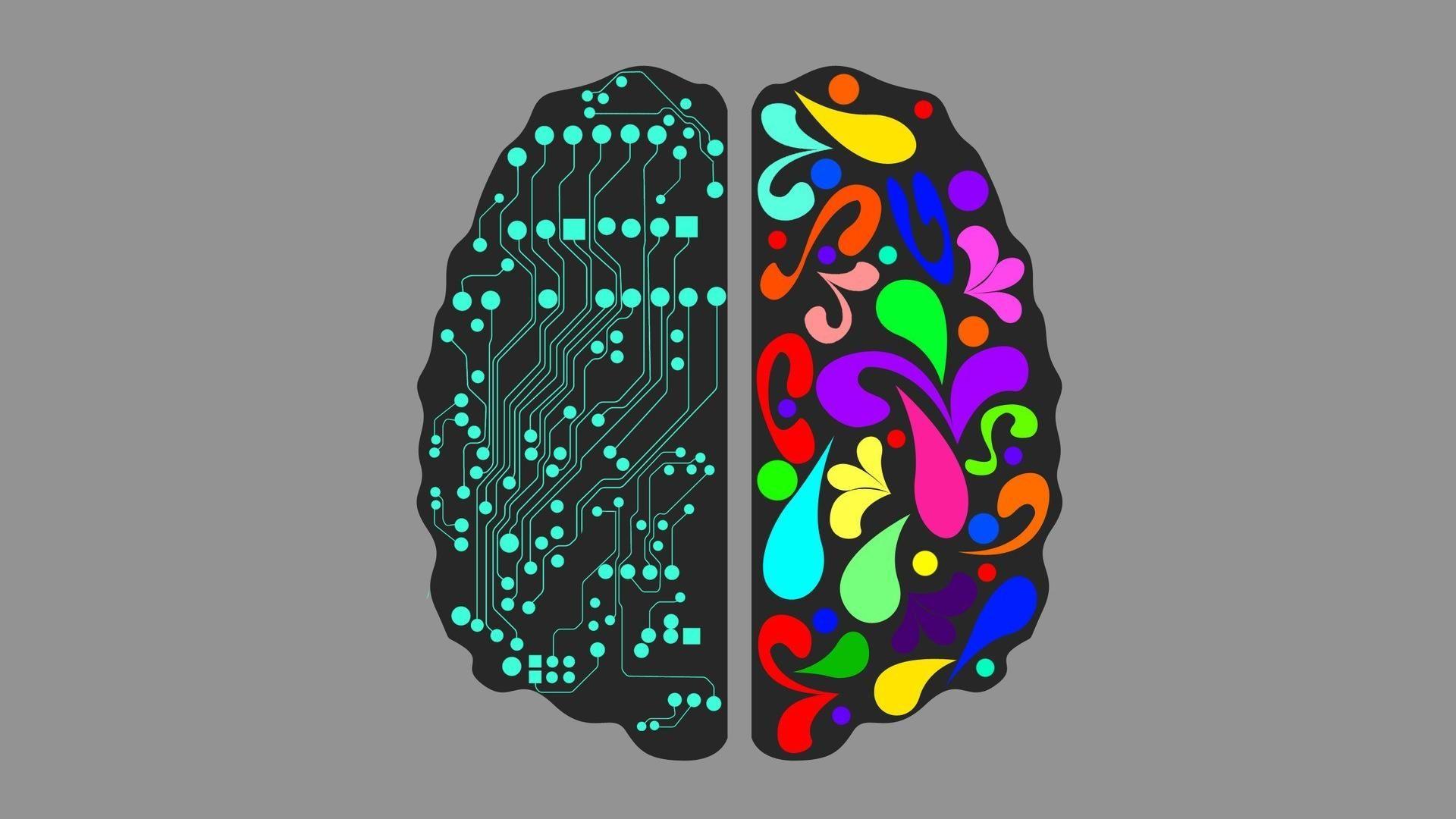 Brain computer wallpaper