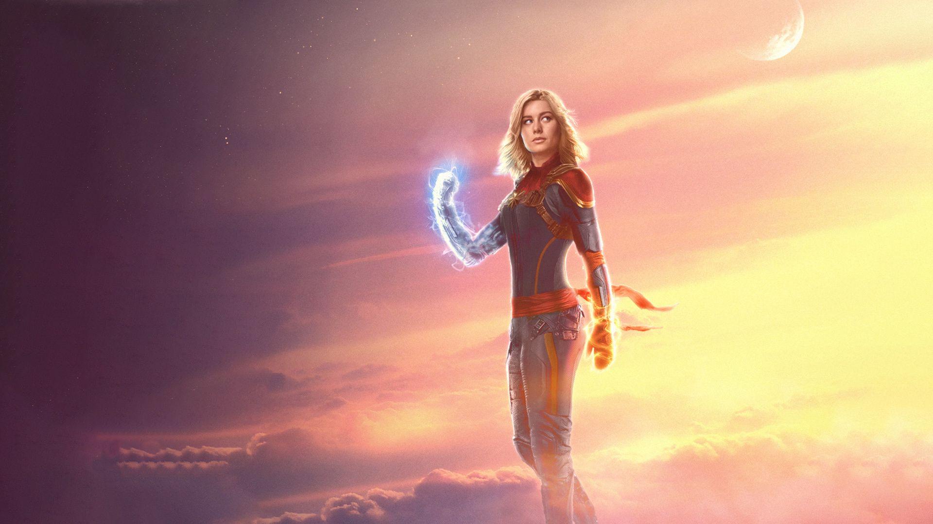 Captain Marvel Background Wallpaper HD