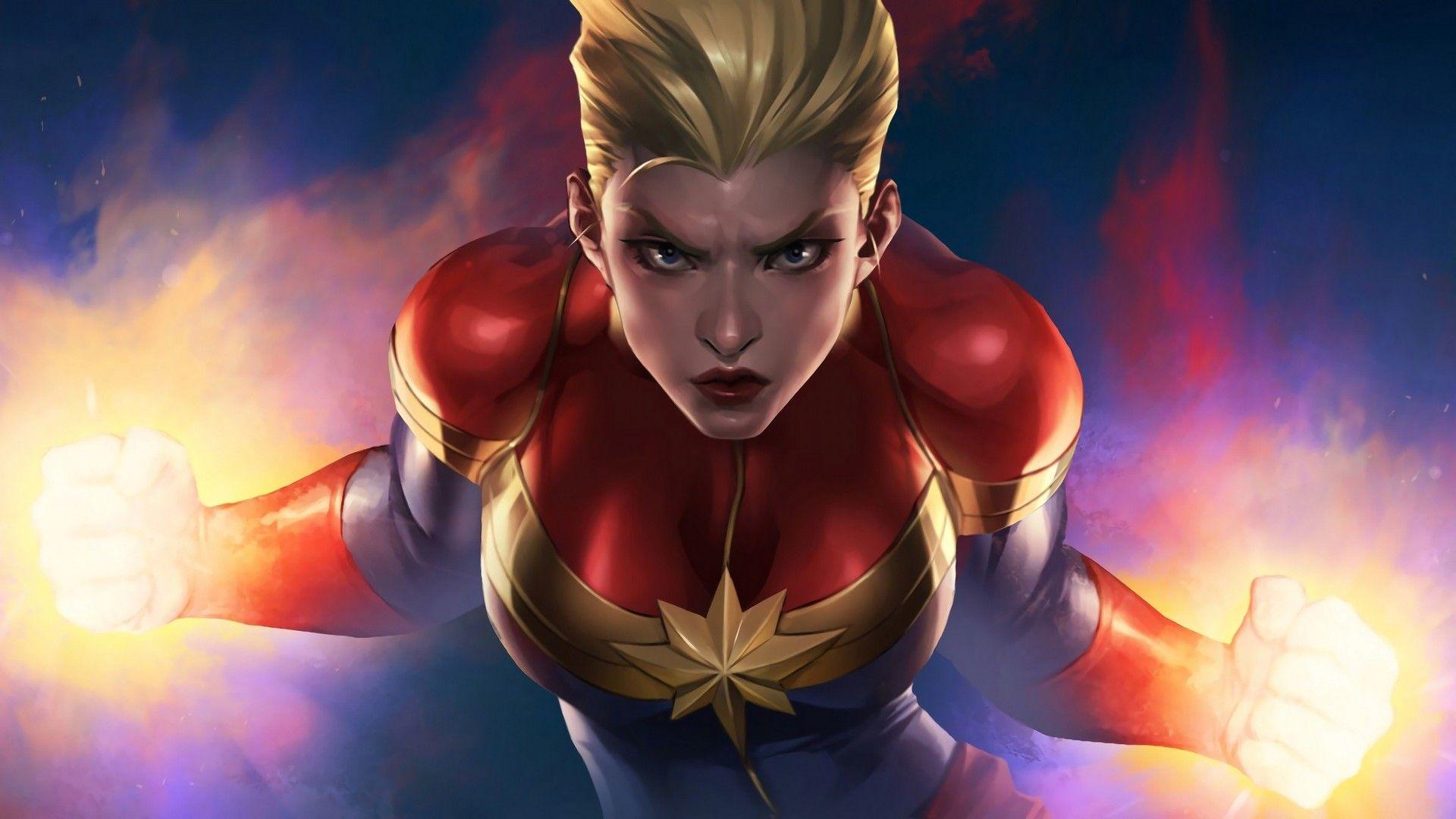 Captain Marvel full hd 1080p wallpaper
