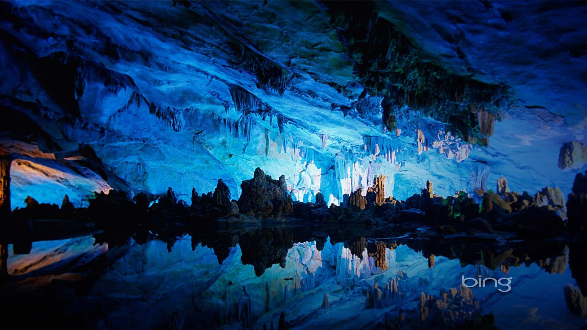 Cave Blue full hd wallpaper for laptop