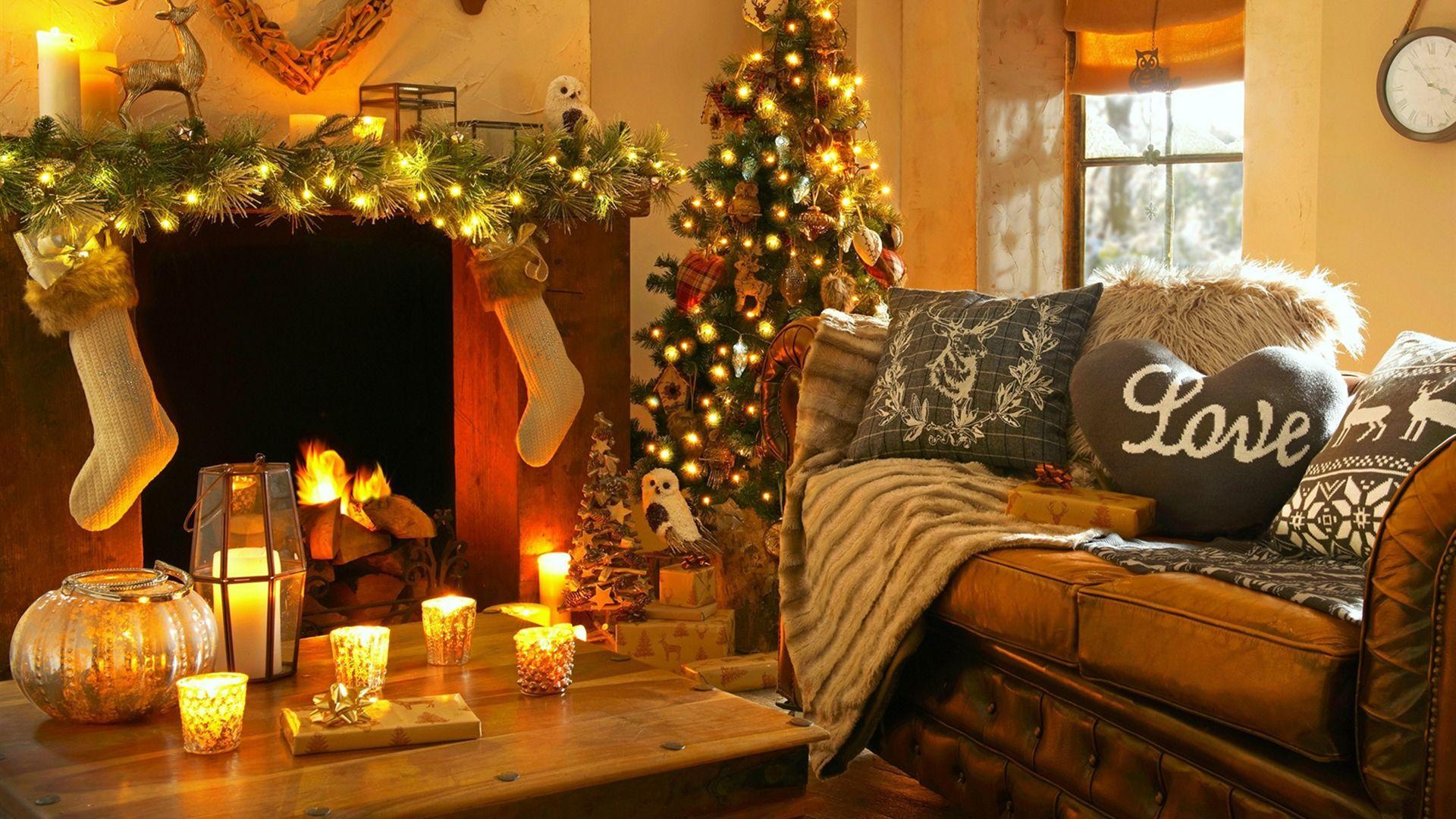 Christmas Fireplace Comfort new wallpaper