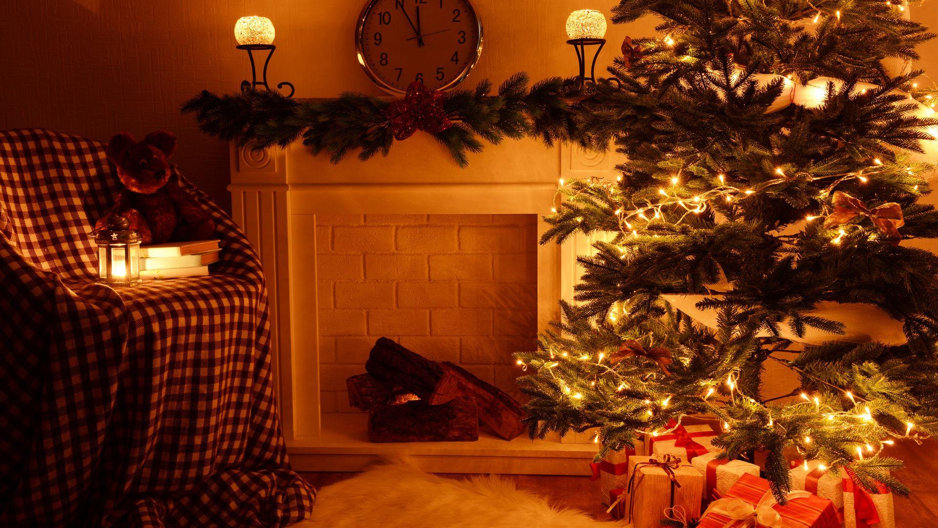 Christmas Fireplace Comfort desktop wallpaper download
