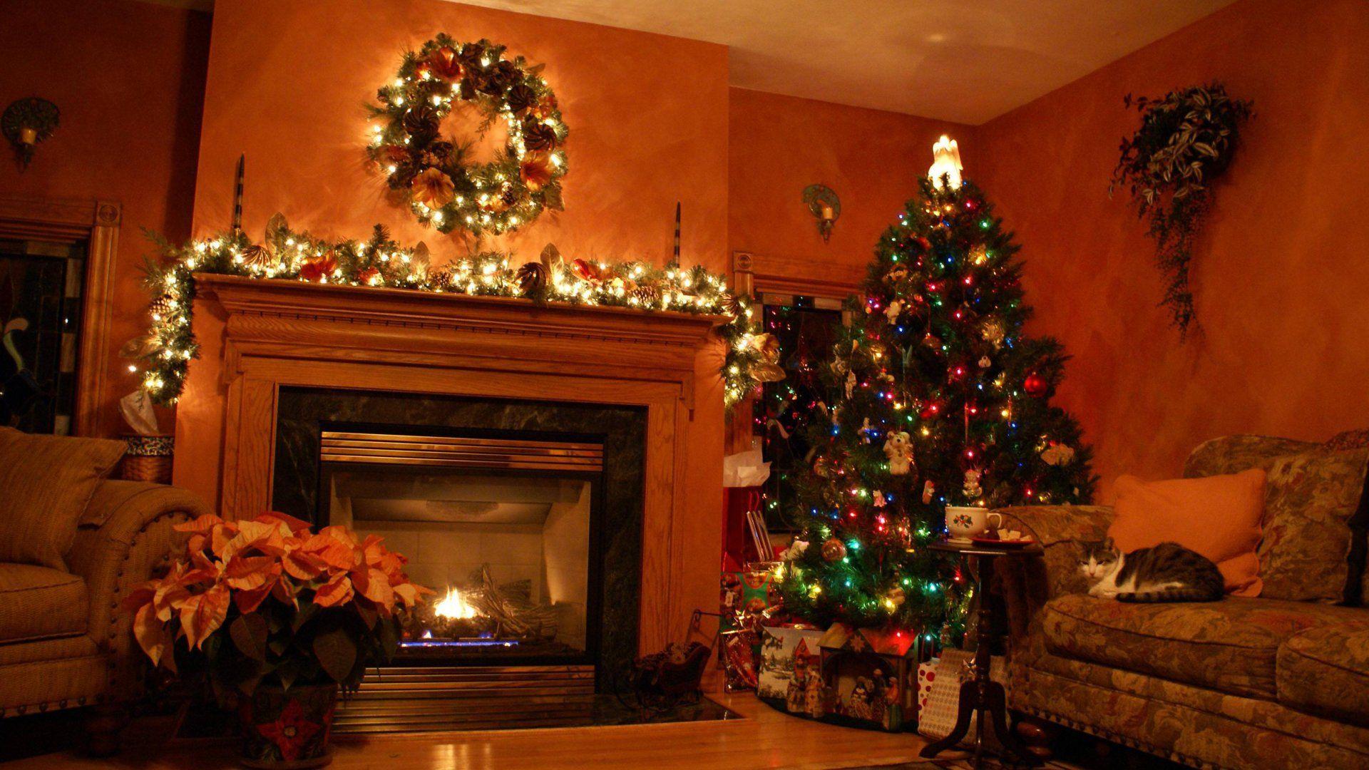 Christmas Fireplace Comfort download nice wallpaper