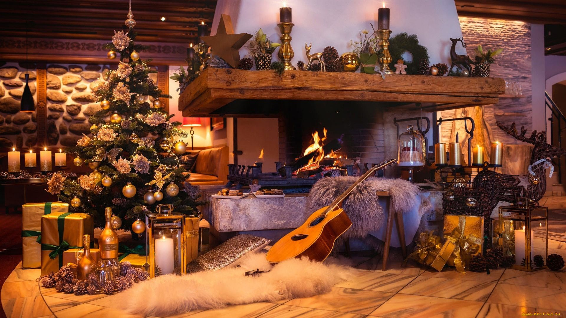 Christmas Fireplace Comfort download free wallpaper image search