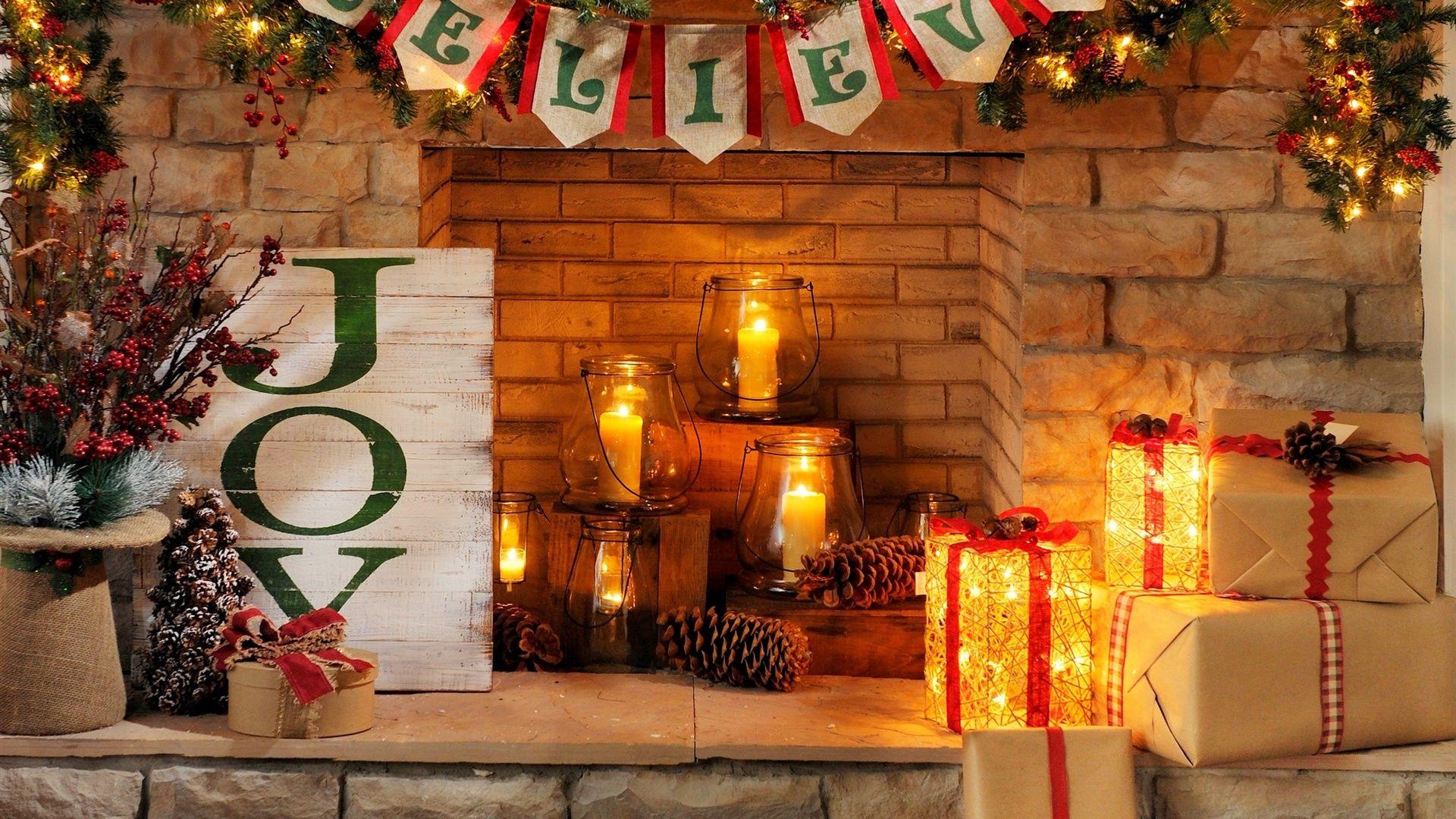 Christmas Fireplace Comfort High Quality