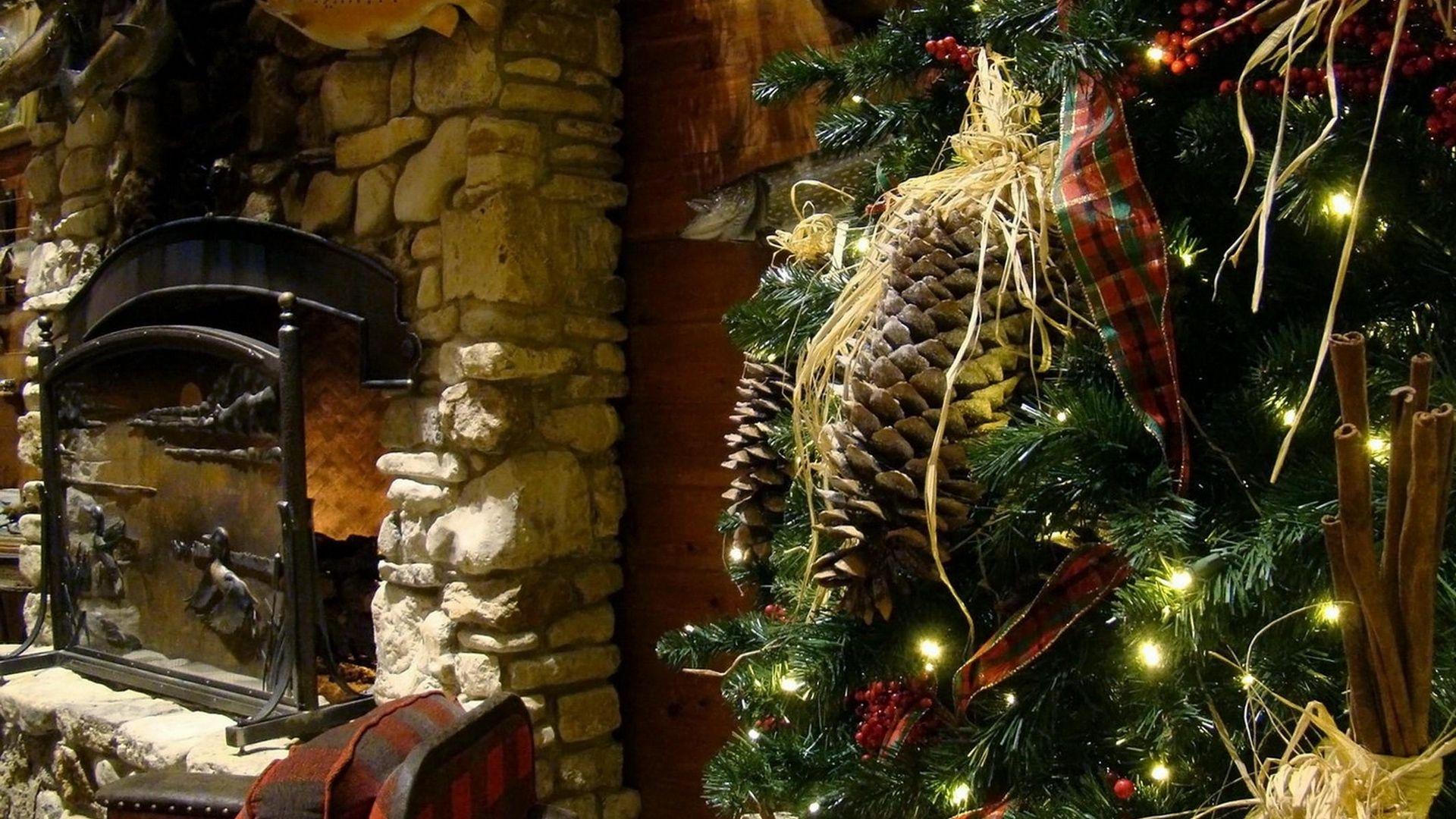 Christmas Fireplace Comfort computer wallpaper