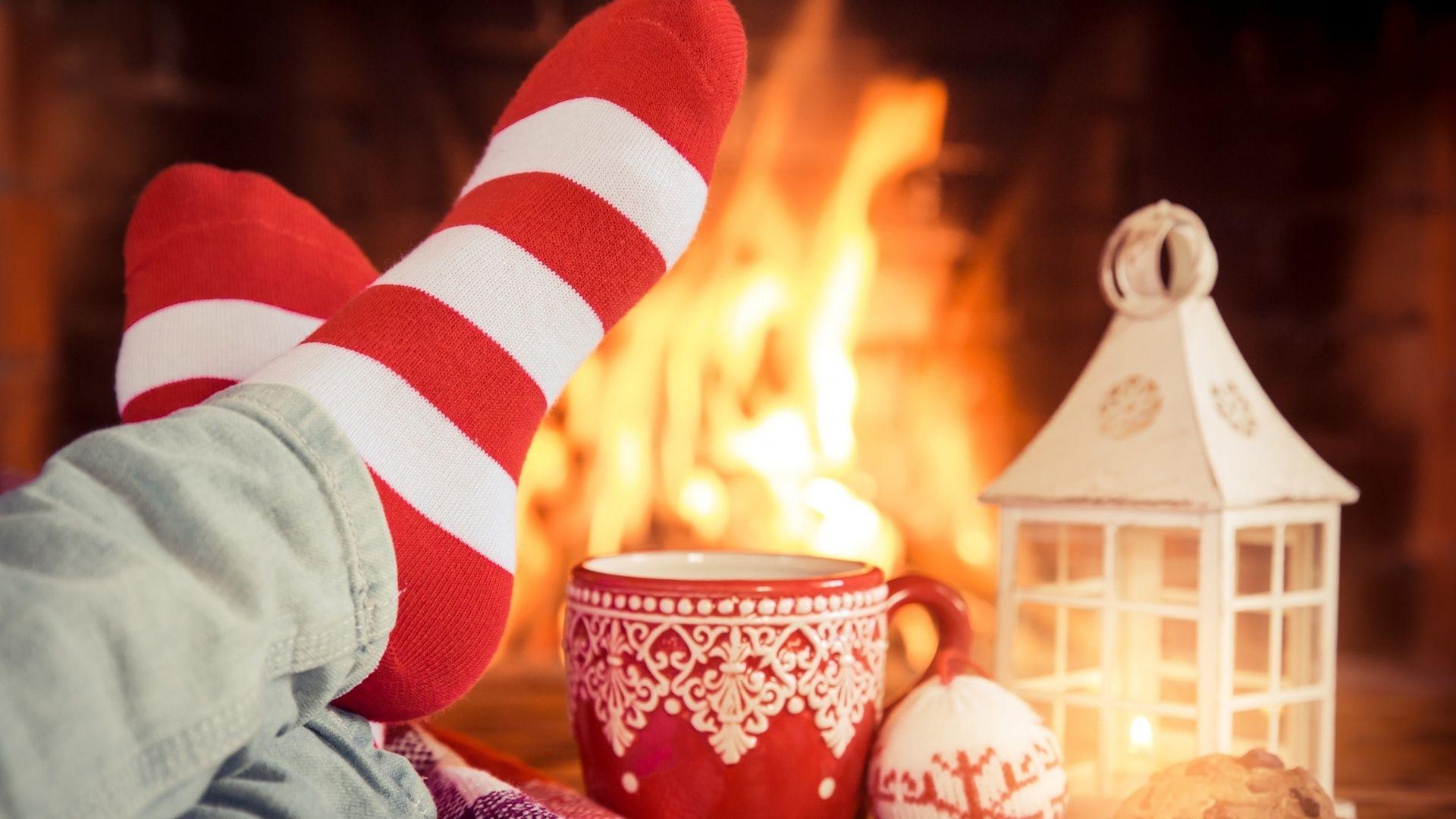 Christmas Fireplace Comfort Image