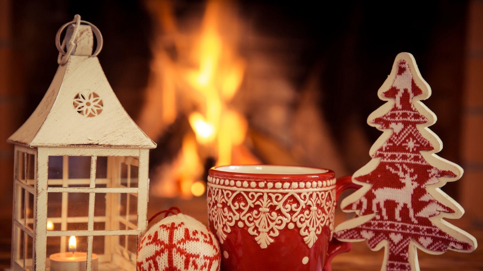 Christmas Fireplace Comfort full hd 1080p wallpaper
