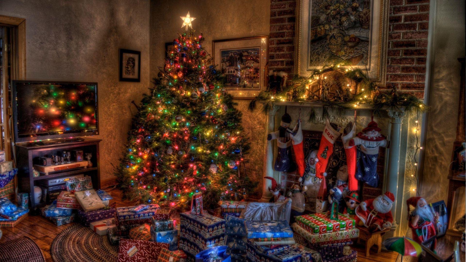 Christmas Fireplace Comfort Good Wallpaper