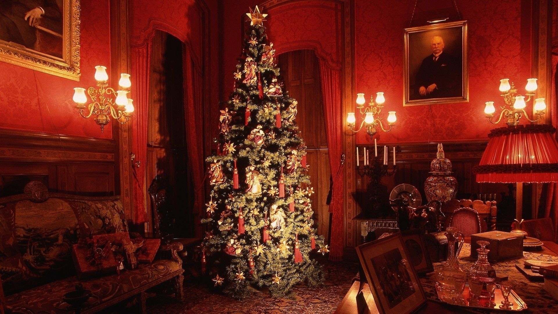 Christmas Fireplace Comfort HD Wallpaper