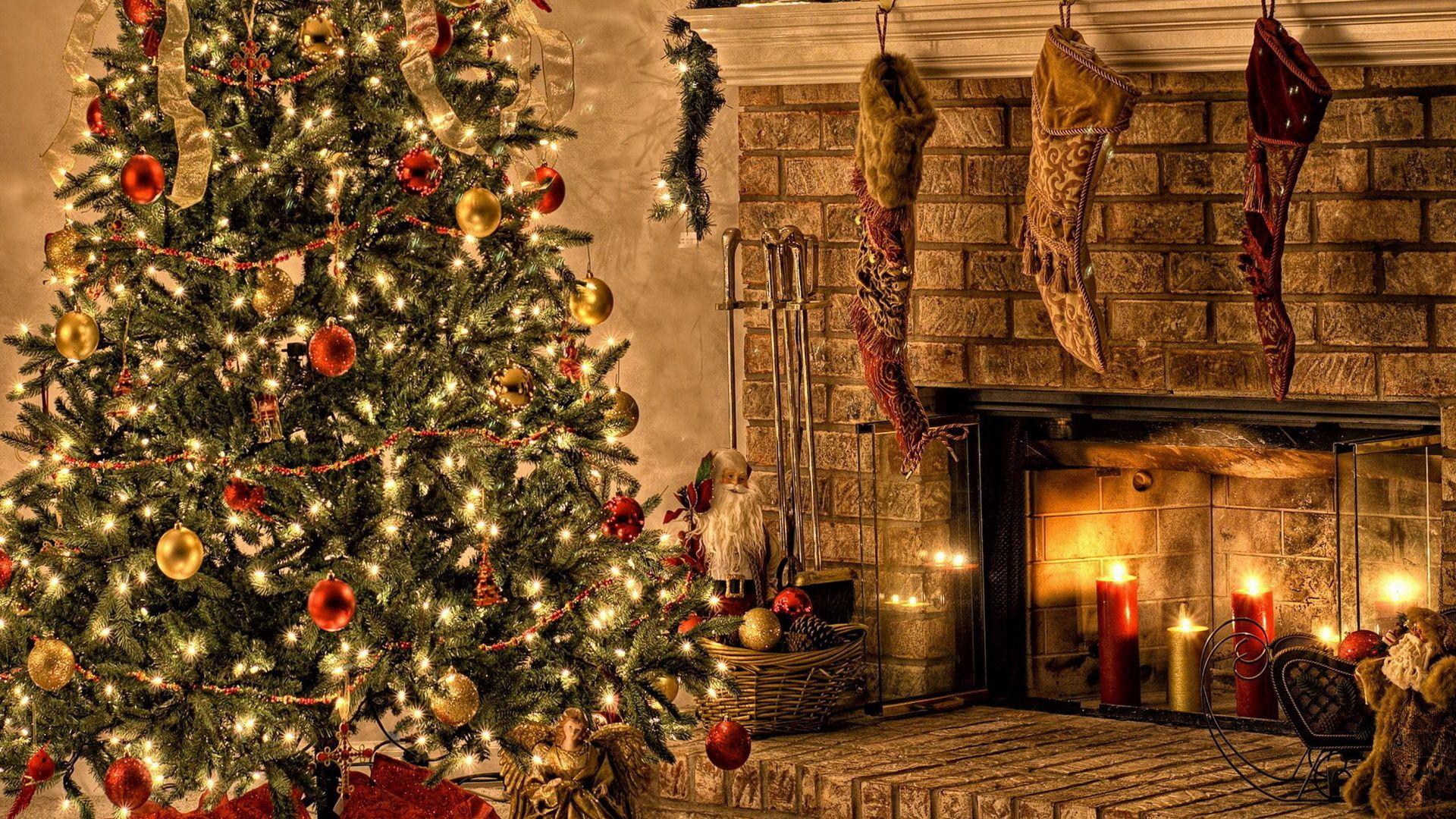 Christmas Fireplace Comfort Cool HD Wallpaper