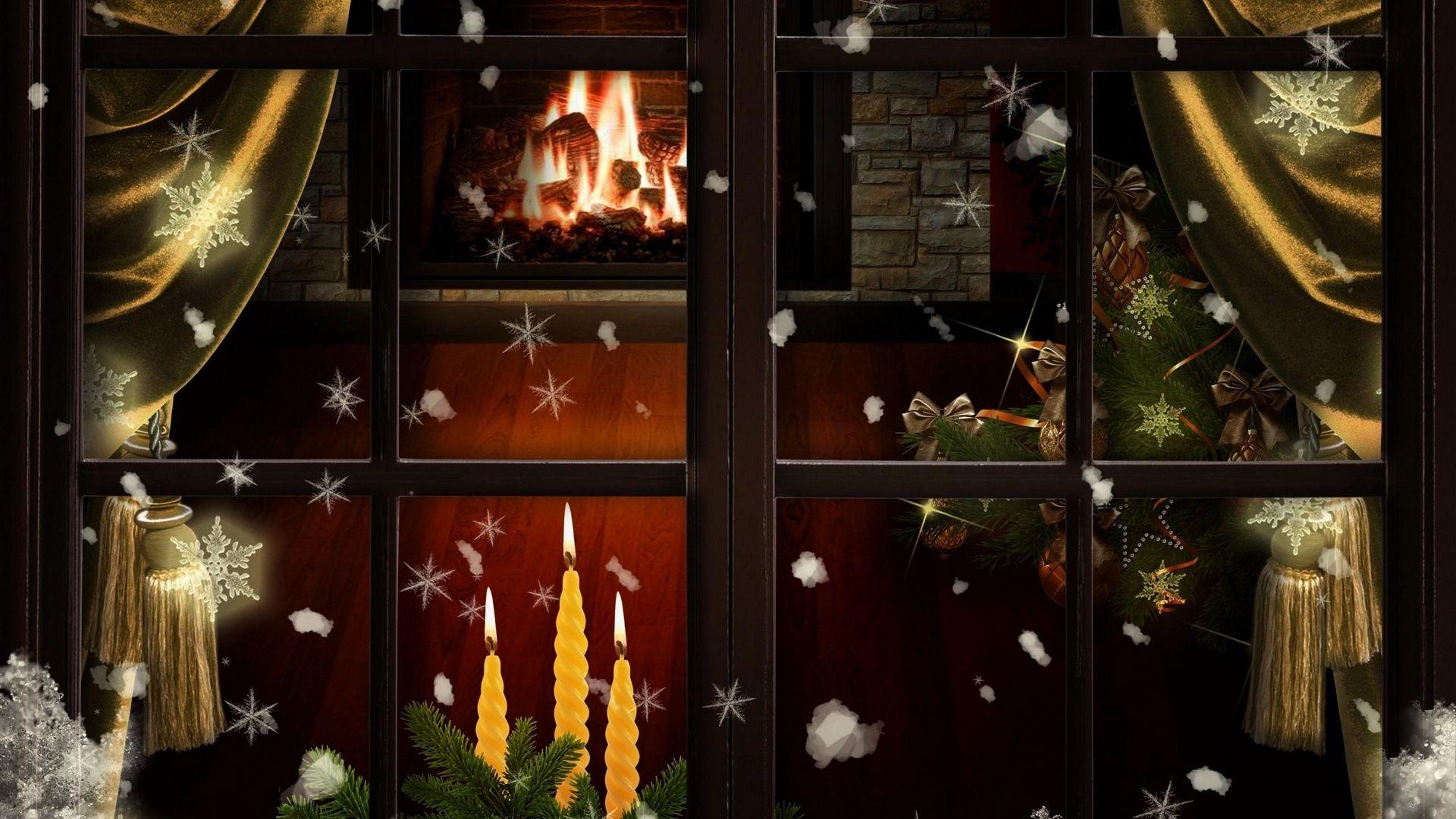 Christmas Fireplace Comfort Pic