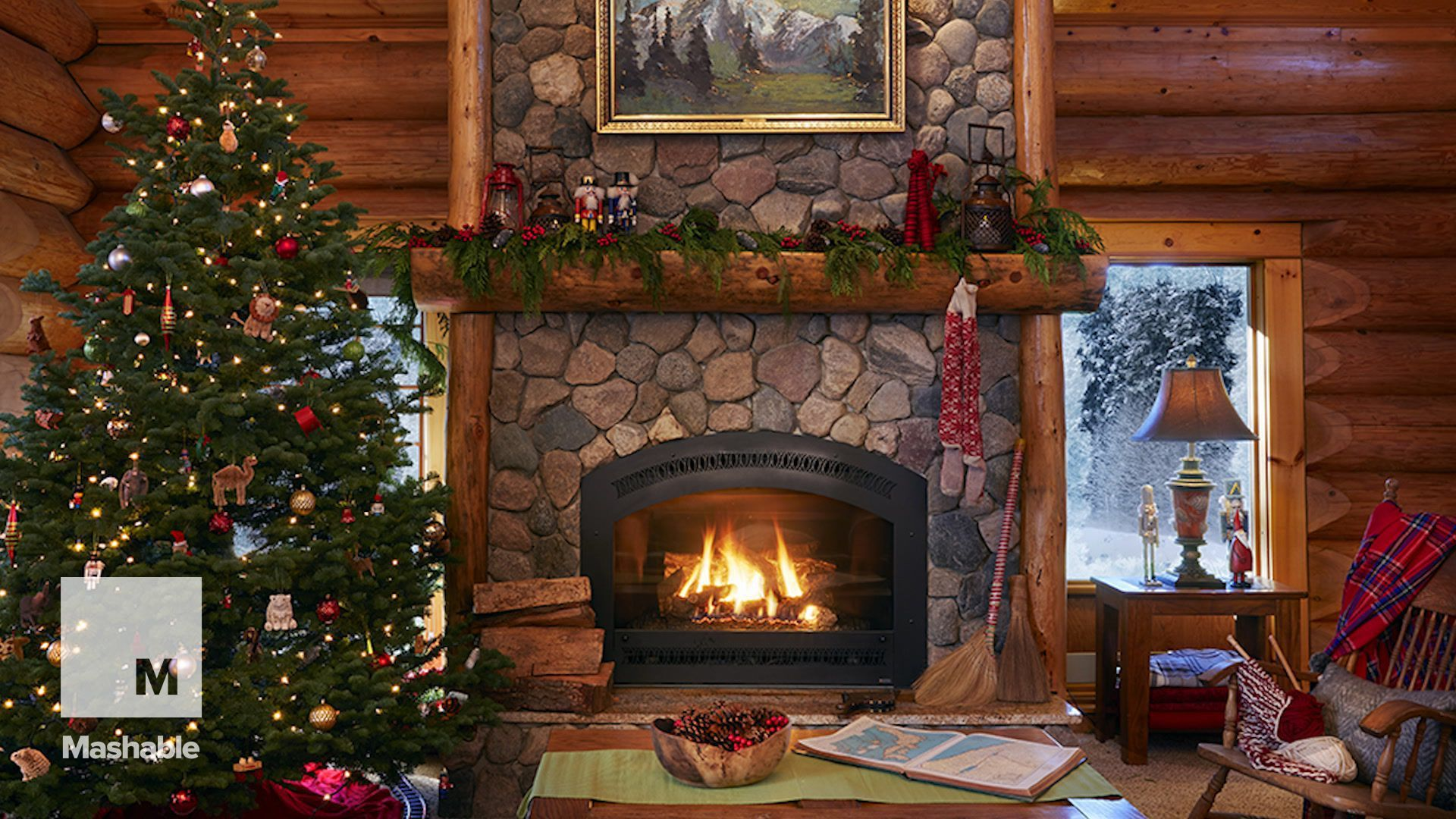Christmas Fireplace Comfort wallpaper picture hd