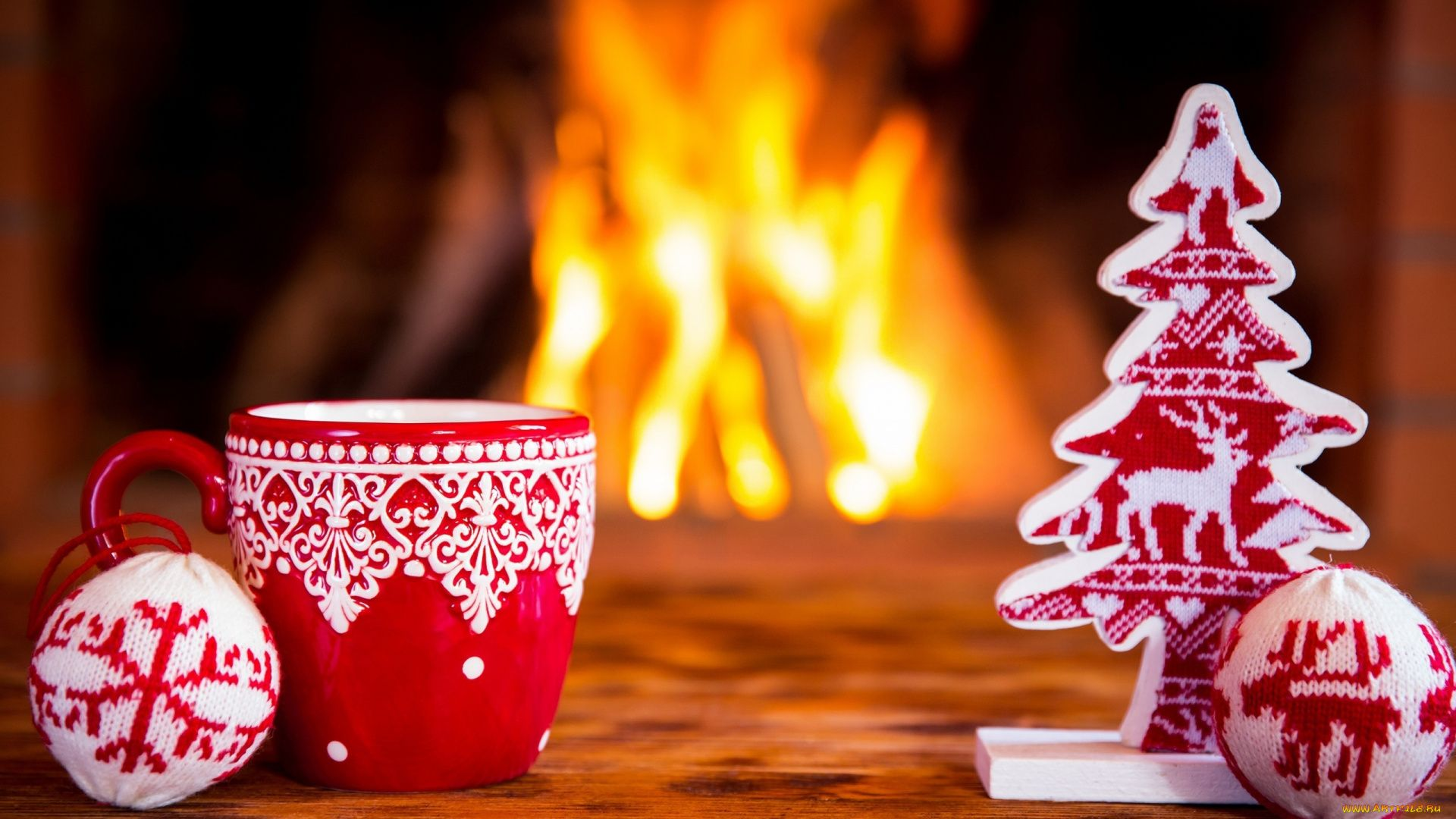 Christmas Fireplace Comfort Wallpaper Picture