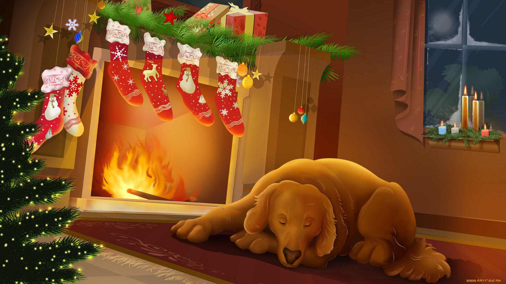 Christmas Fireplace Comfort good wallpaper hd
