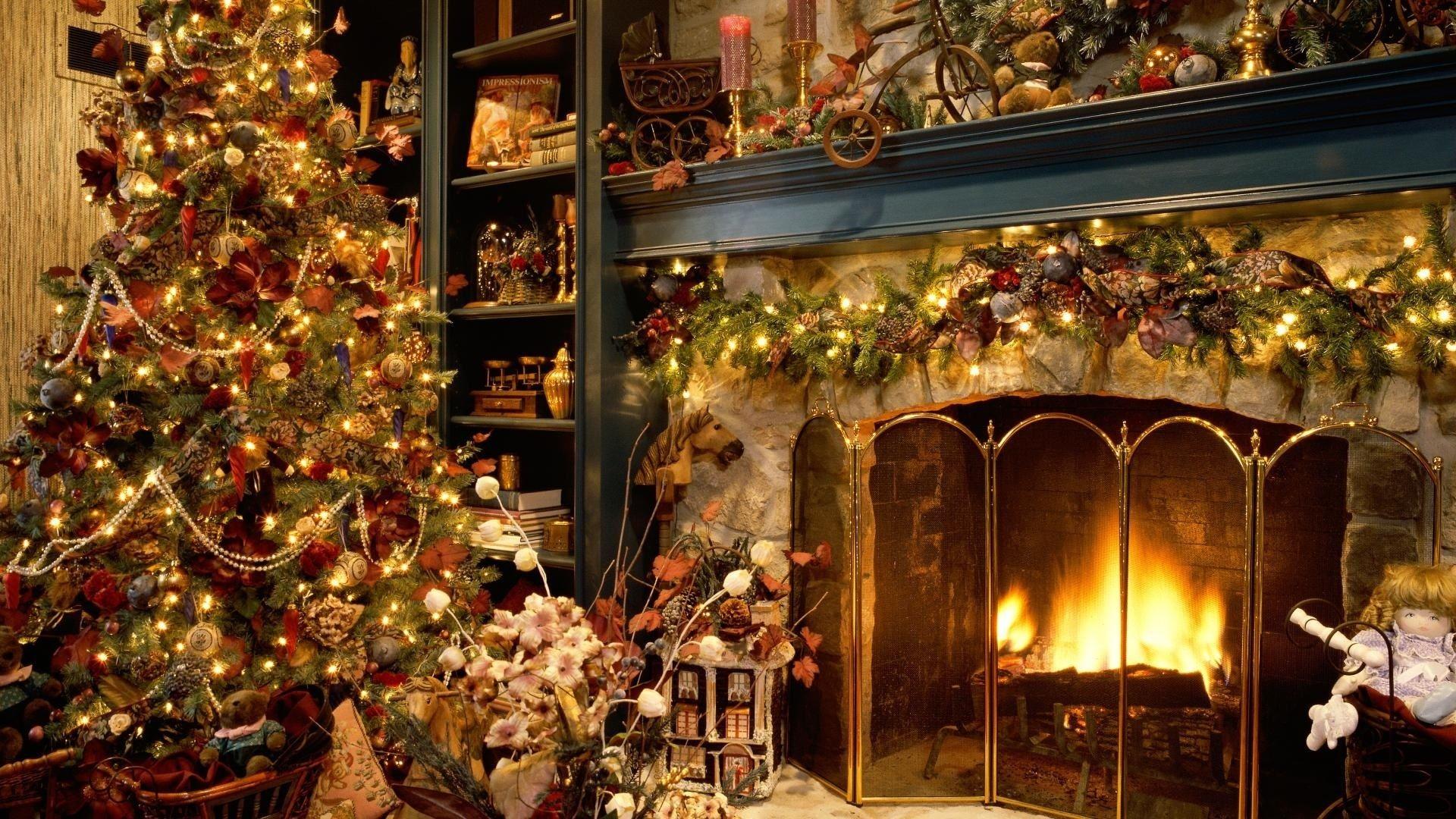 Christmas Fireplace Comfort beautiful wallpaper