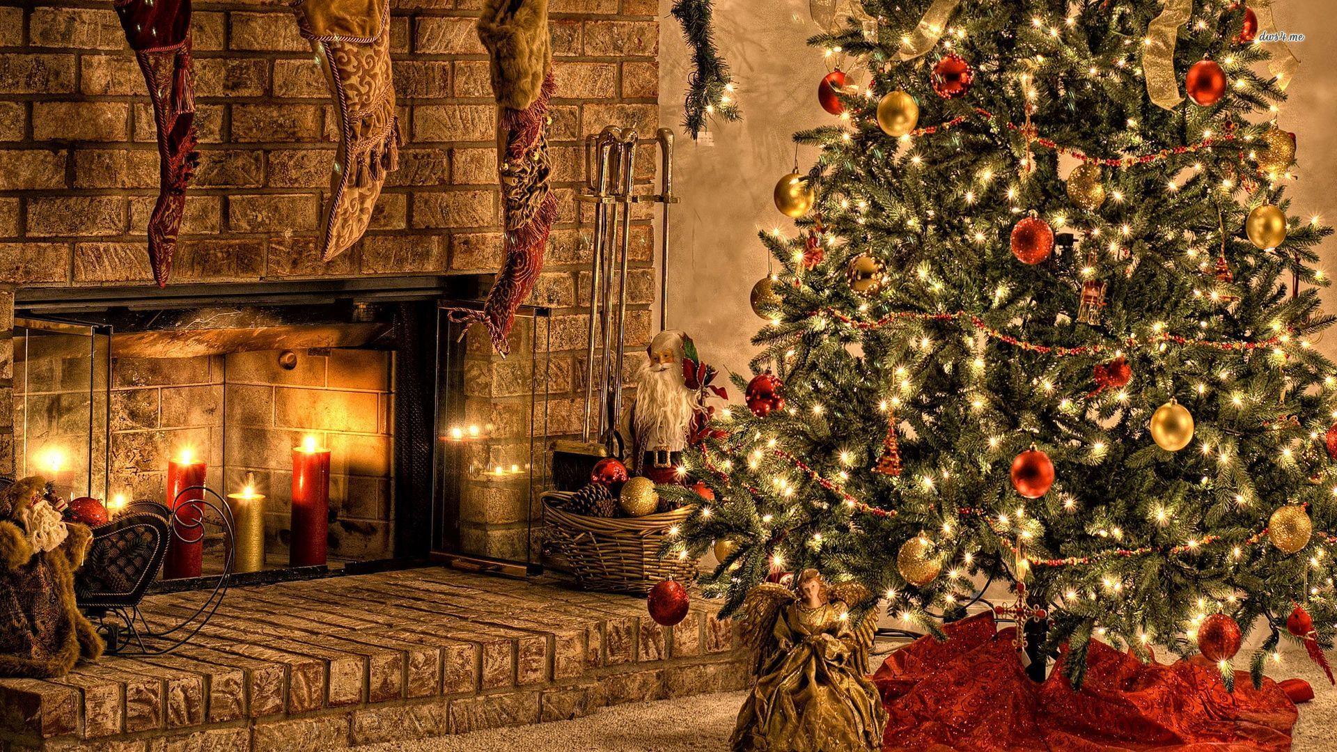 Christmas Fireplace Comfort Download Wallpaper