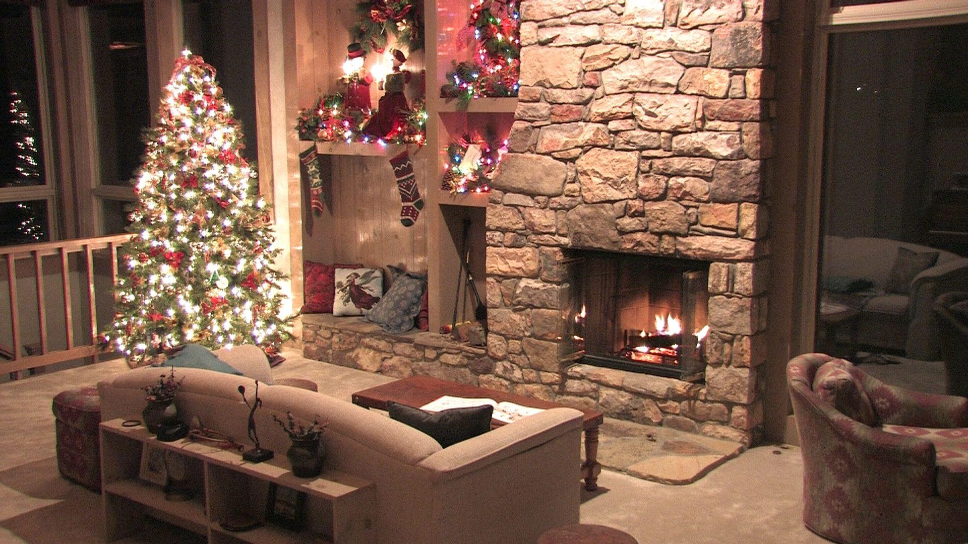 Christmas Fireplace Comfort PC Wallpaper HD