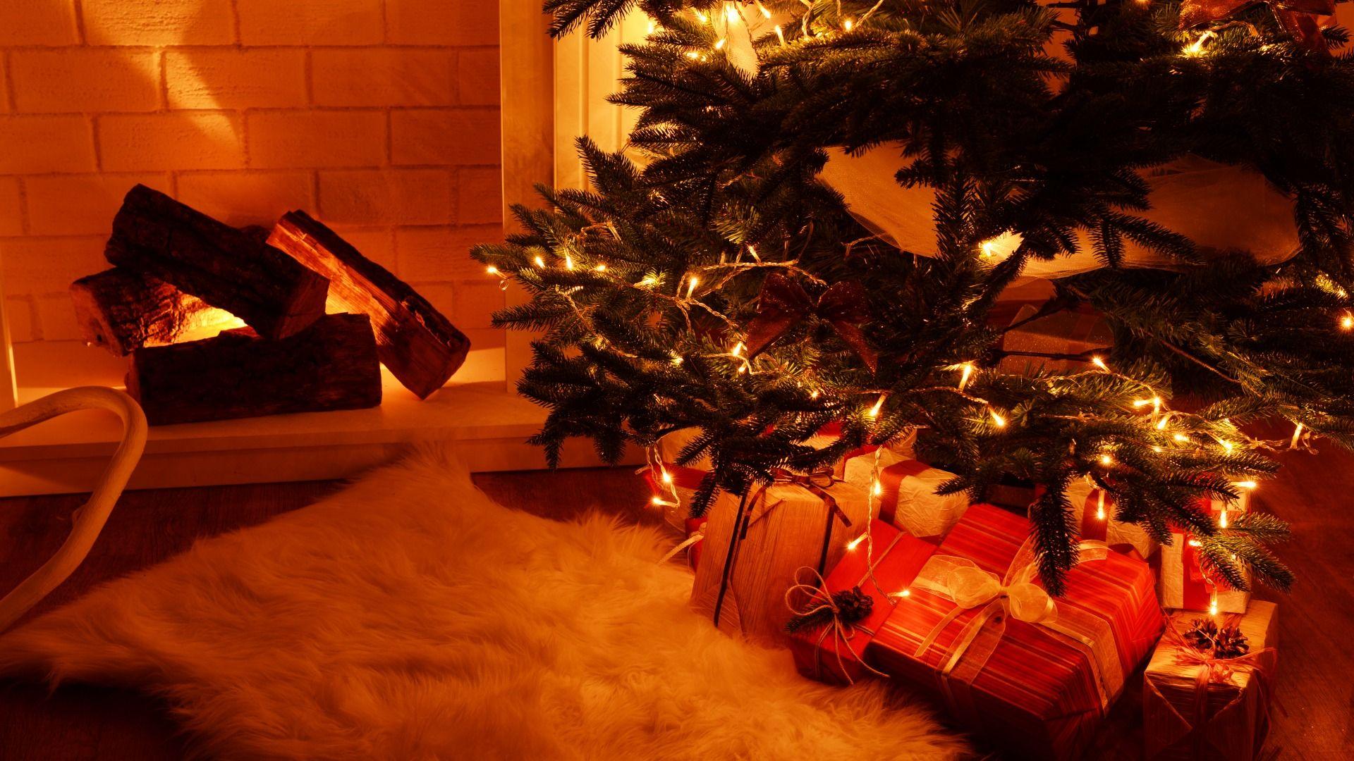 Christmas Fireplace Comfort wallpaper photo
