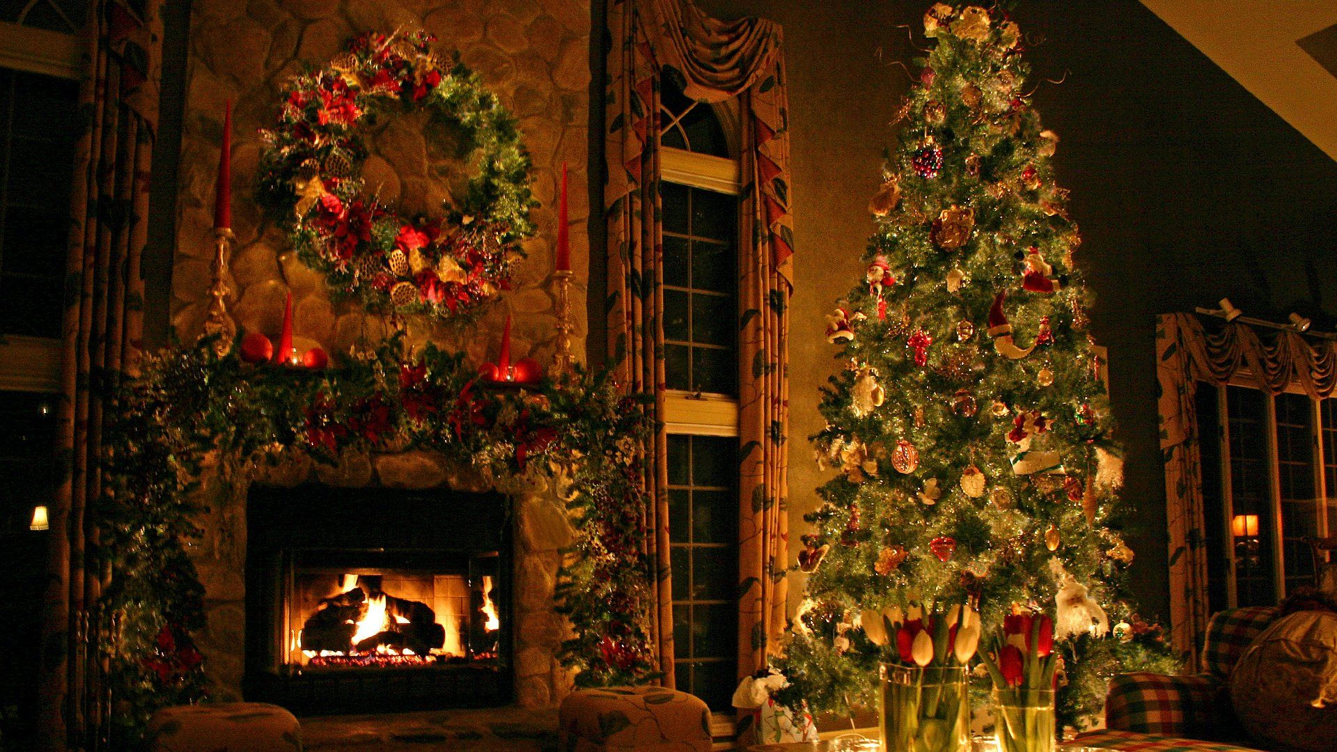 Christmas Holiday Warm Cool Wallpaper