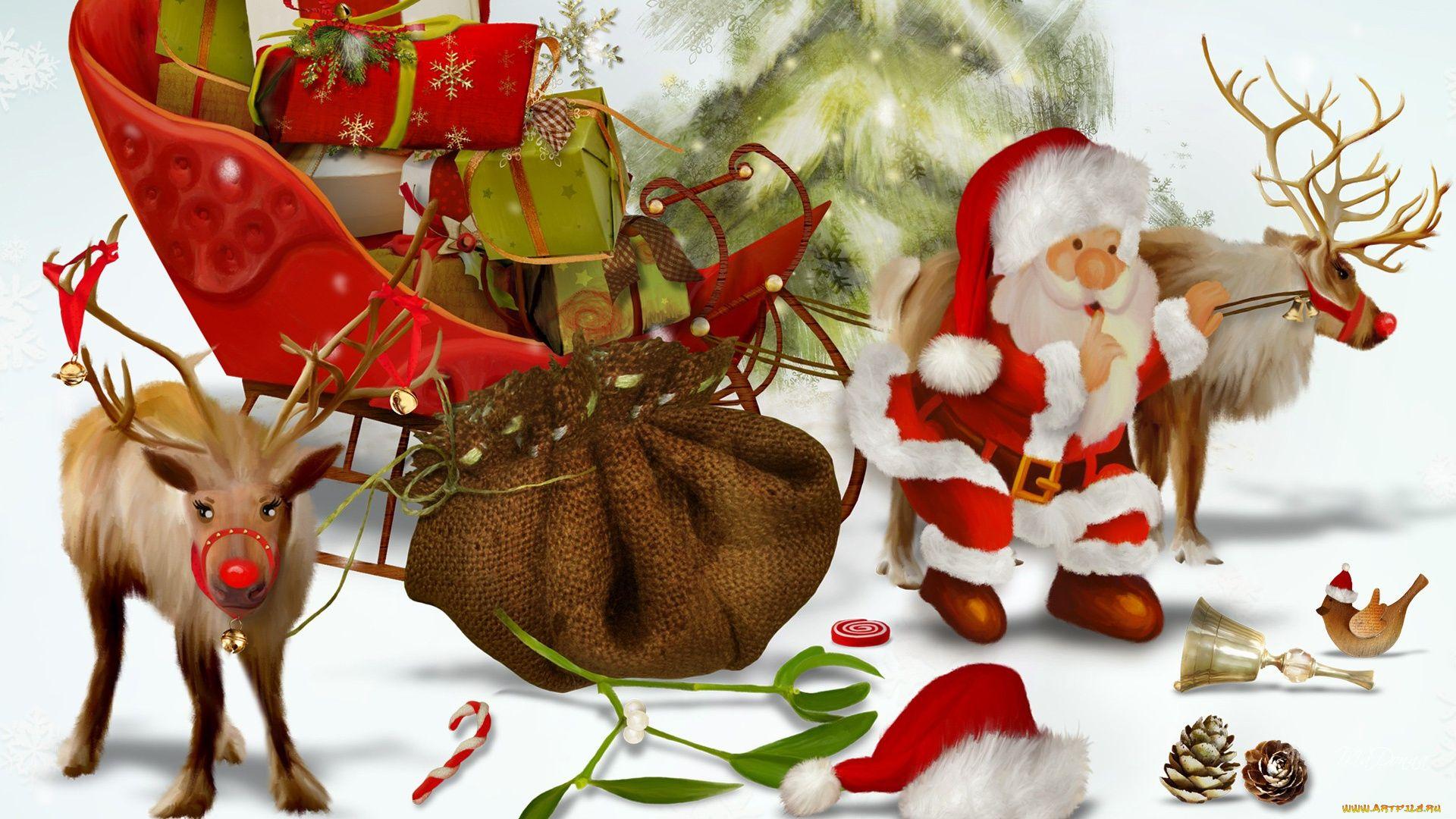 Christmas Sleigh wallpaper photo full hd