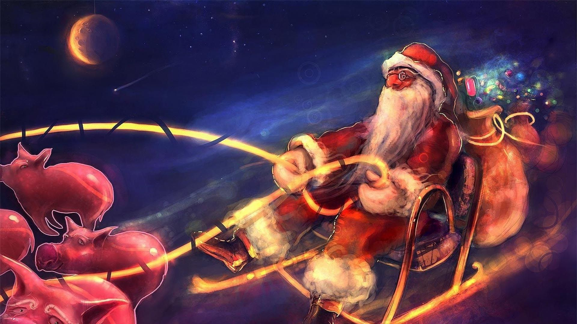 Christmas Sleigh full hd 1080p wallpaper