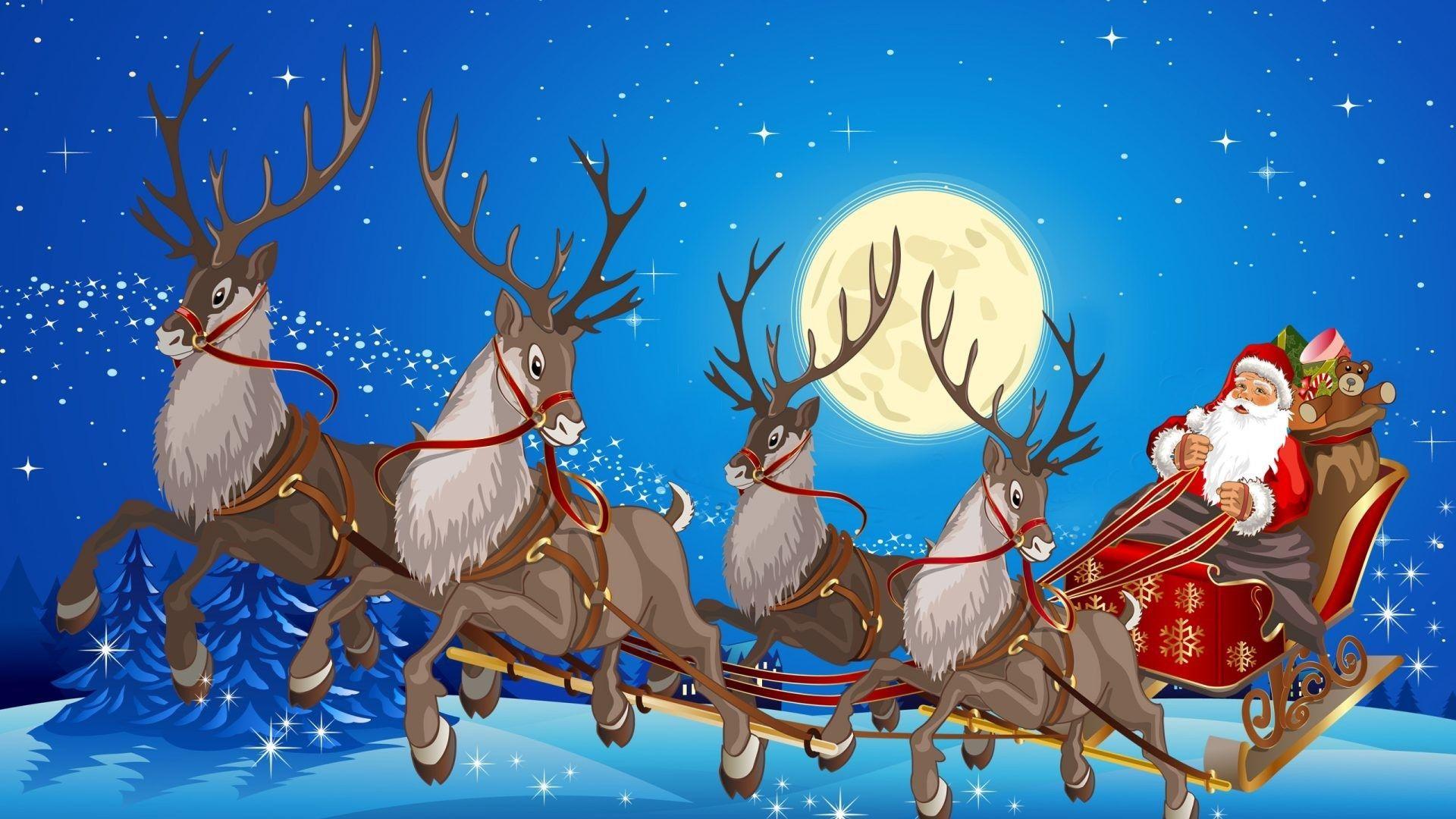 Christmas Sleigh wallpaper image hd