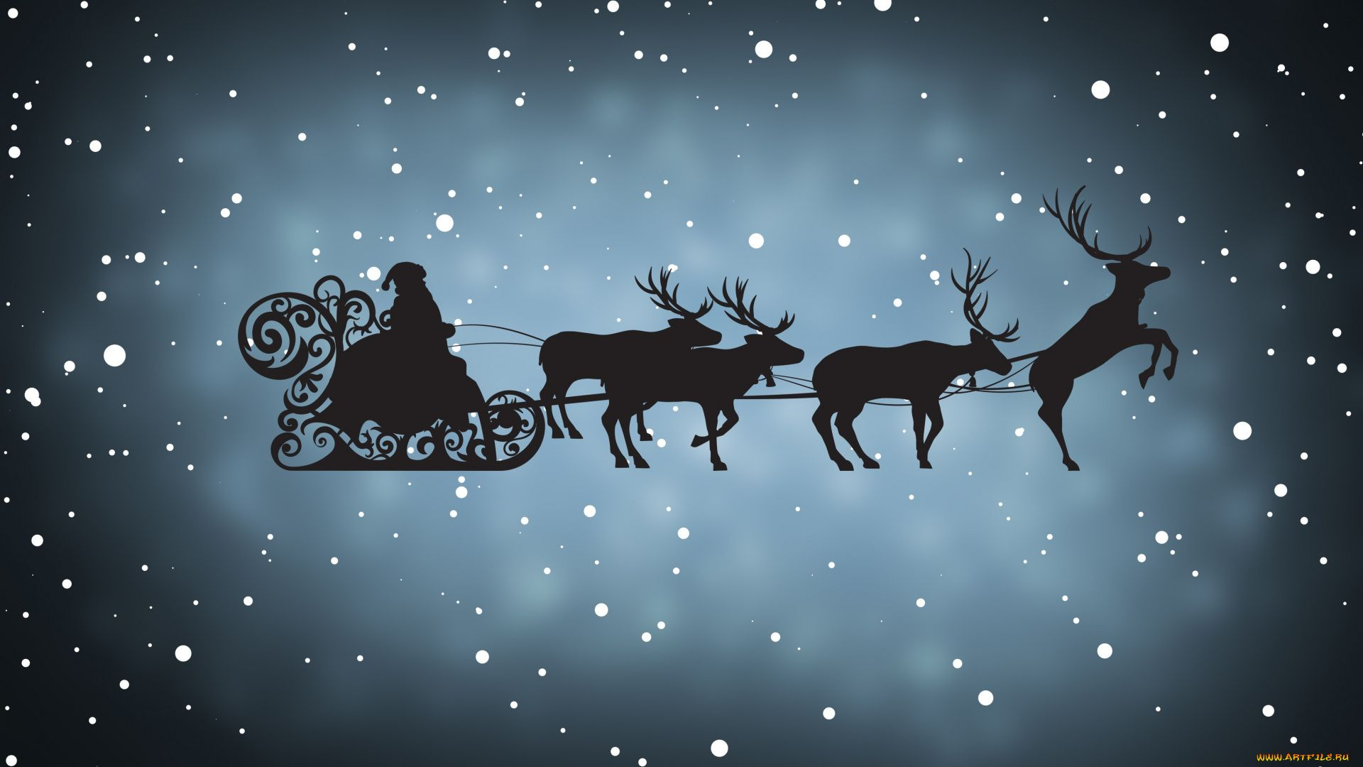 Christmas Sleigh Free Desktop Wallpaper