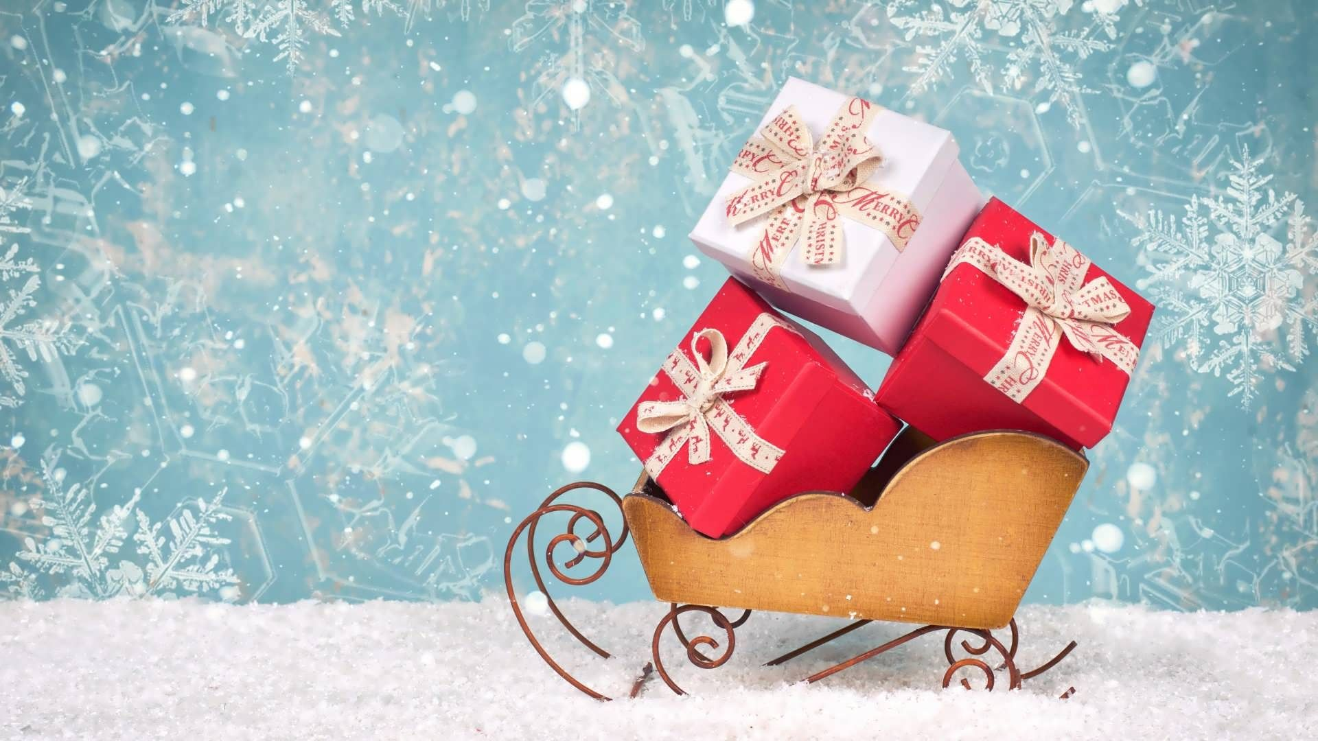 Christmas Sleigh 1080p Wallpaper