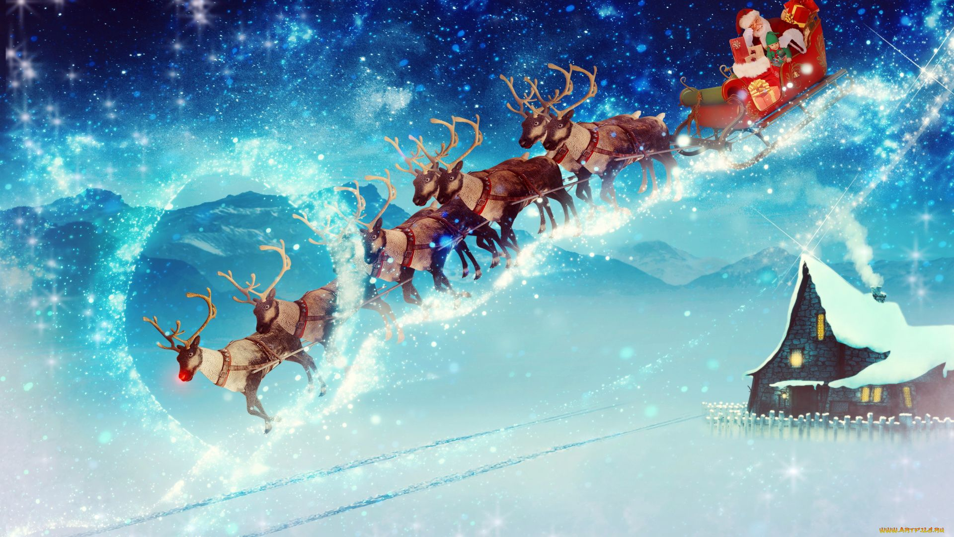 Christmas Sleigh full hd wallpaper for laptop