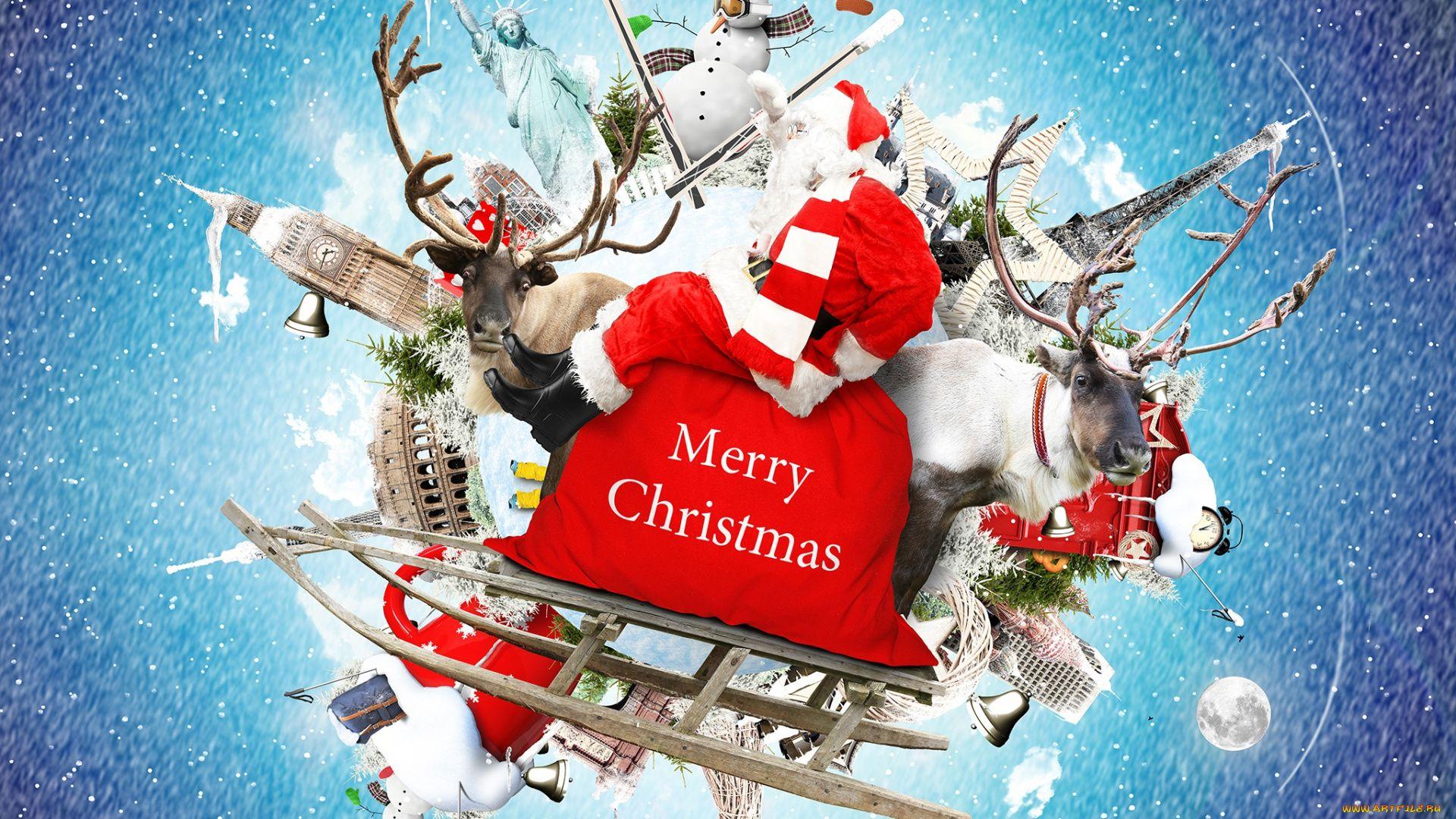 Christmas Sleigh full wallpaper