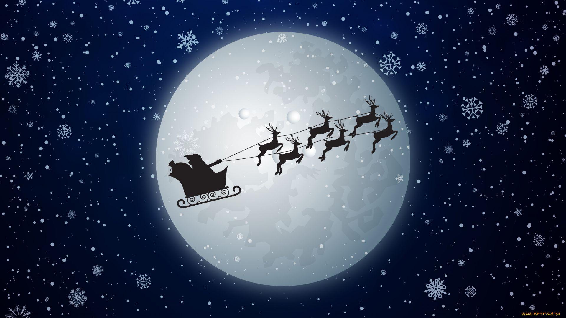 Christmas Sleigh pc wallpaper