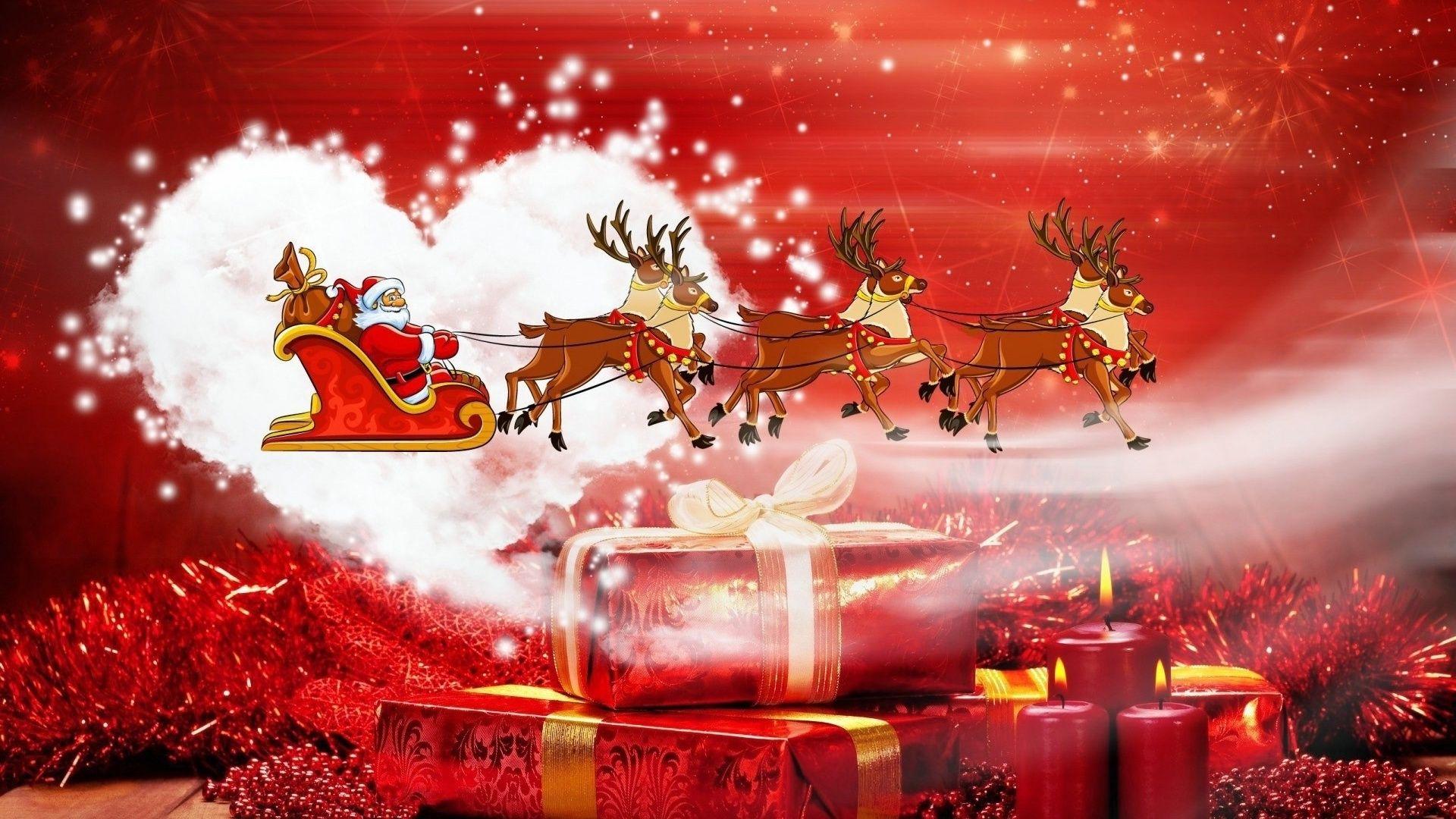 Christmas Sleigh hd wallpaper download