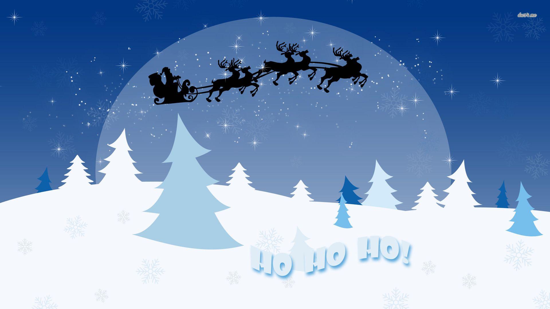 Christmas Sleigh Desktop Wallpaper