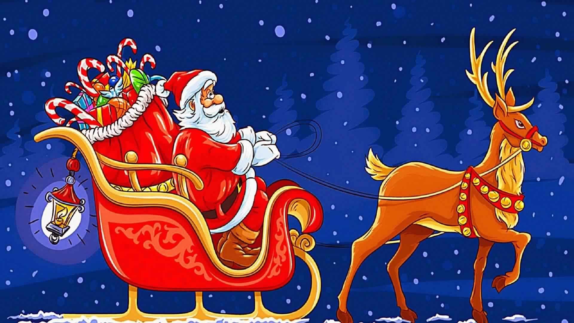 Christmas Sleigh desktop wallpaper download