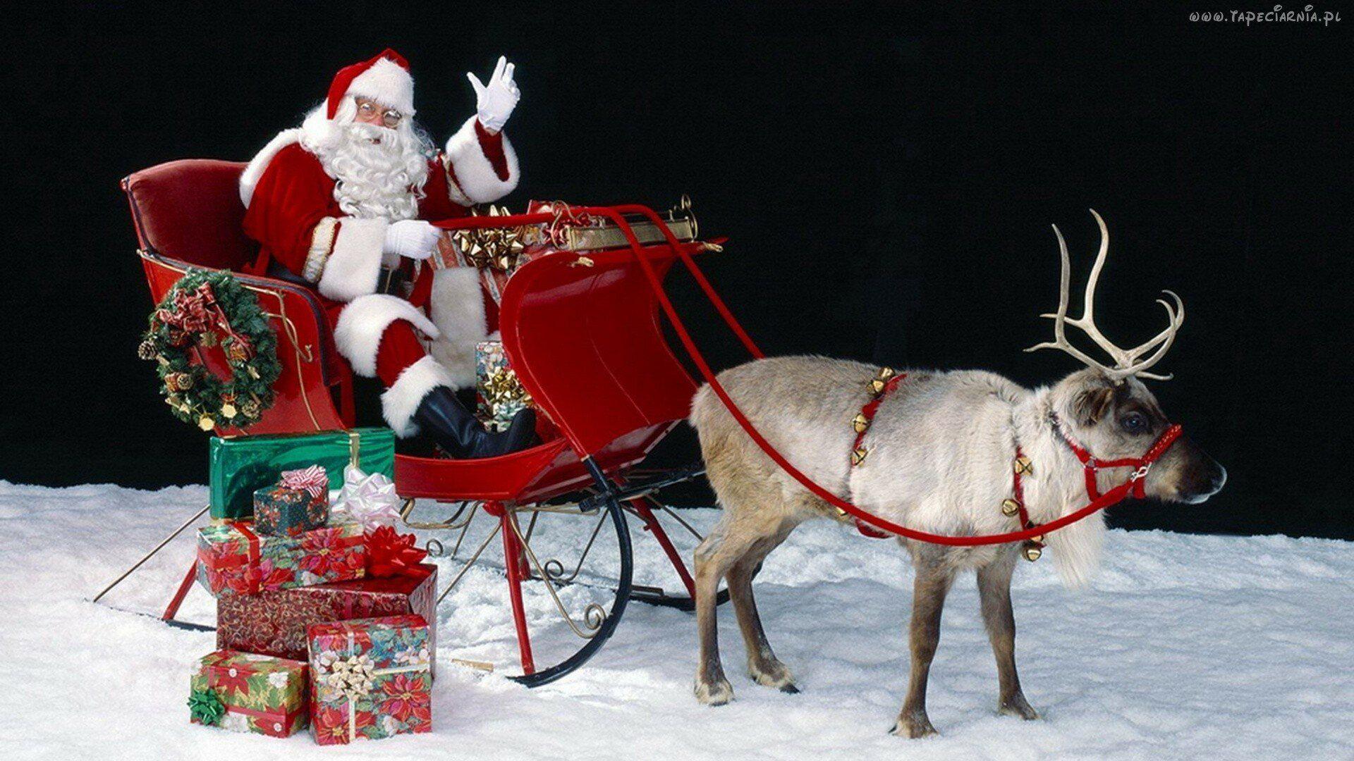 Christmas Sleigh PC Wallpaper HD