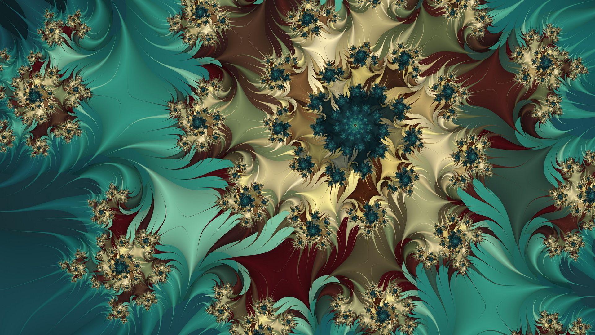 Fractal Flower Nice Wallpaper