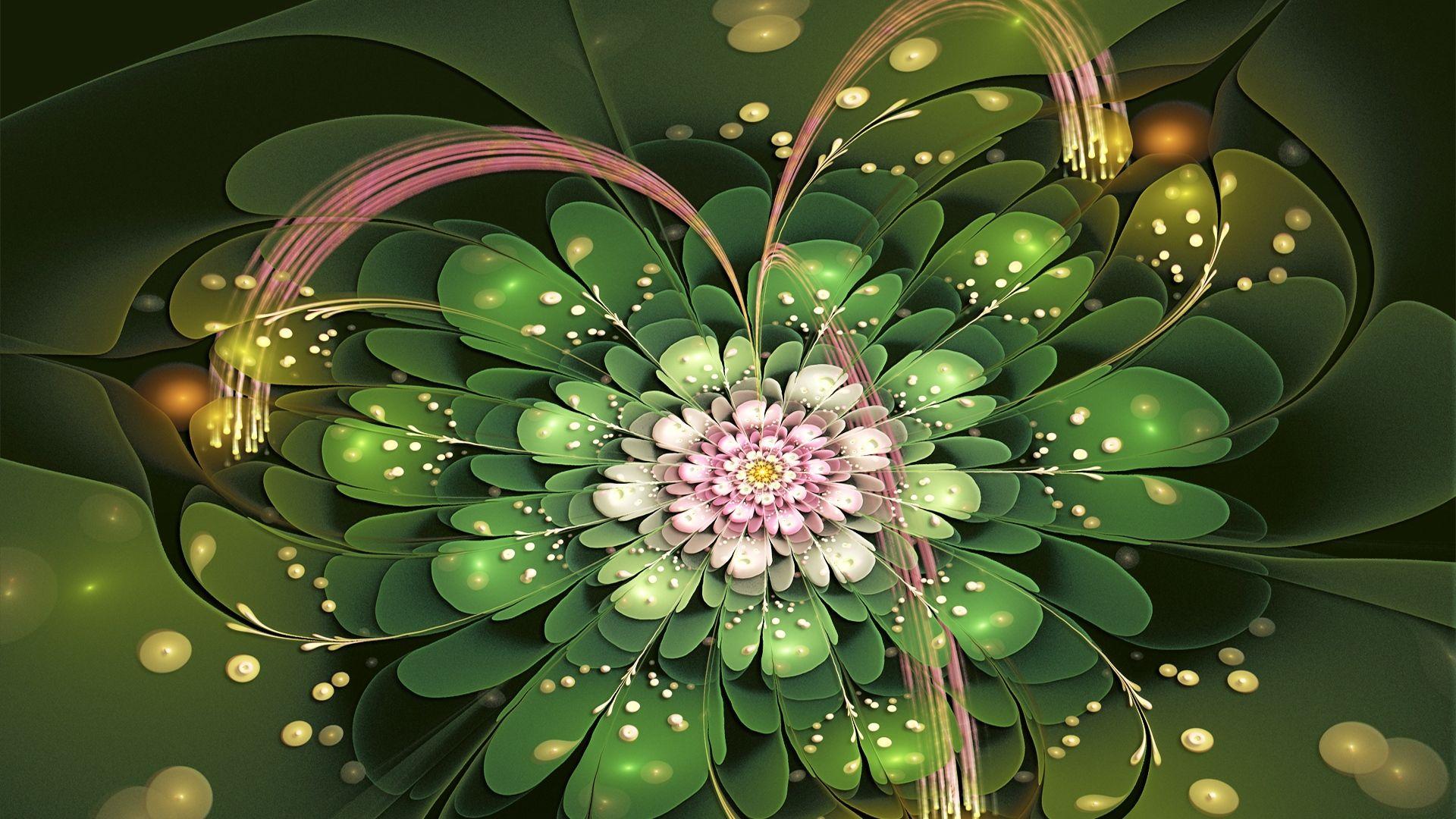 Fractal Flower hd wallpaper for laptop