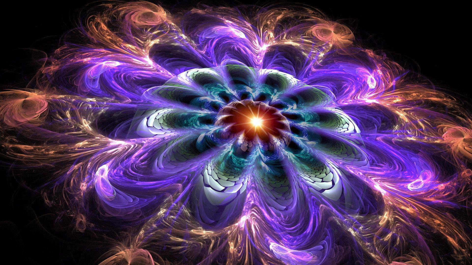 Fractal Flower desktop wallpaper
