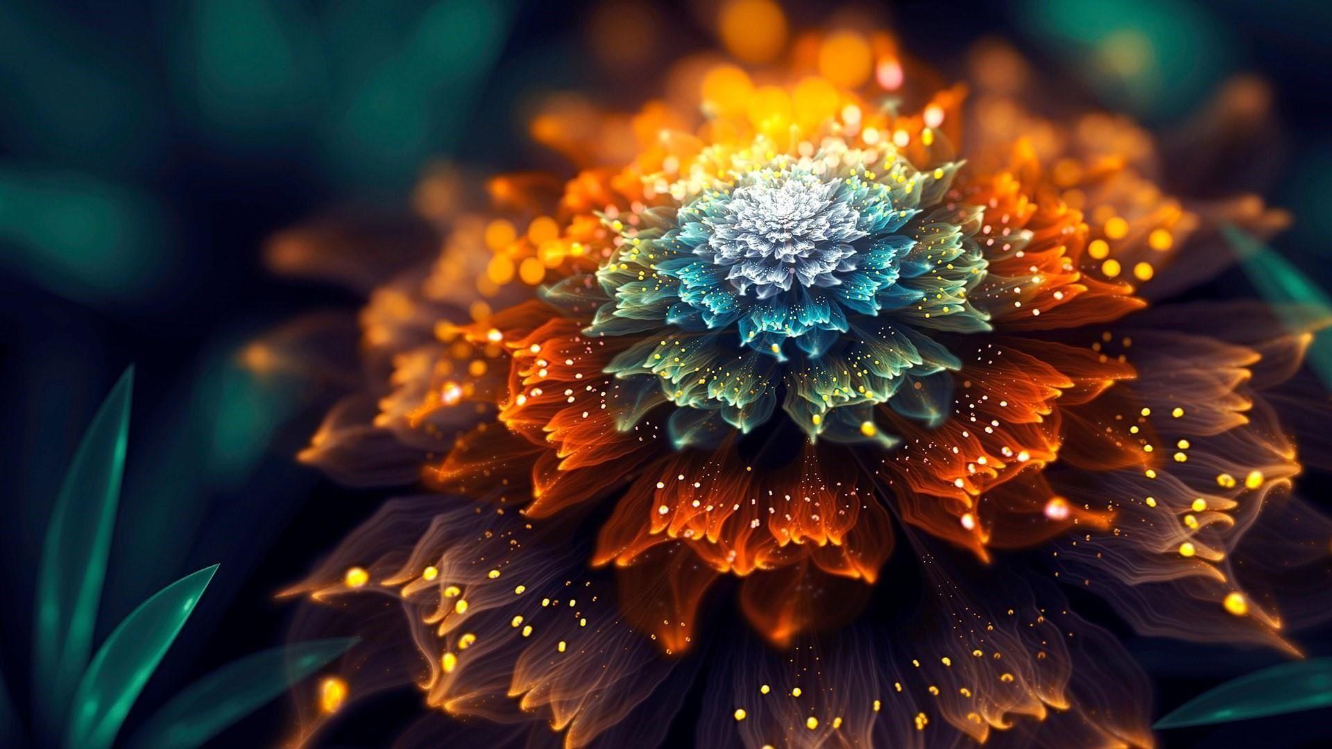 Fractal Flower 1920x1080 wallpaper