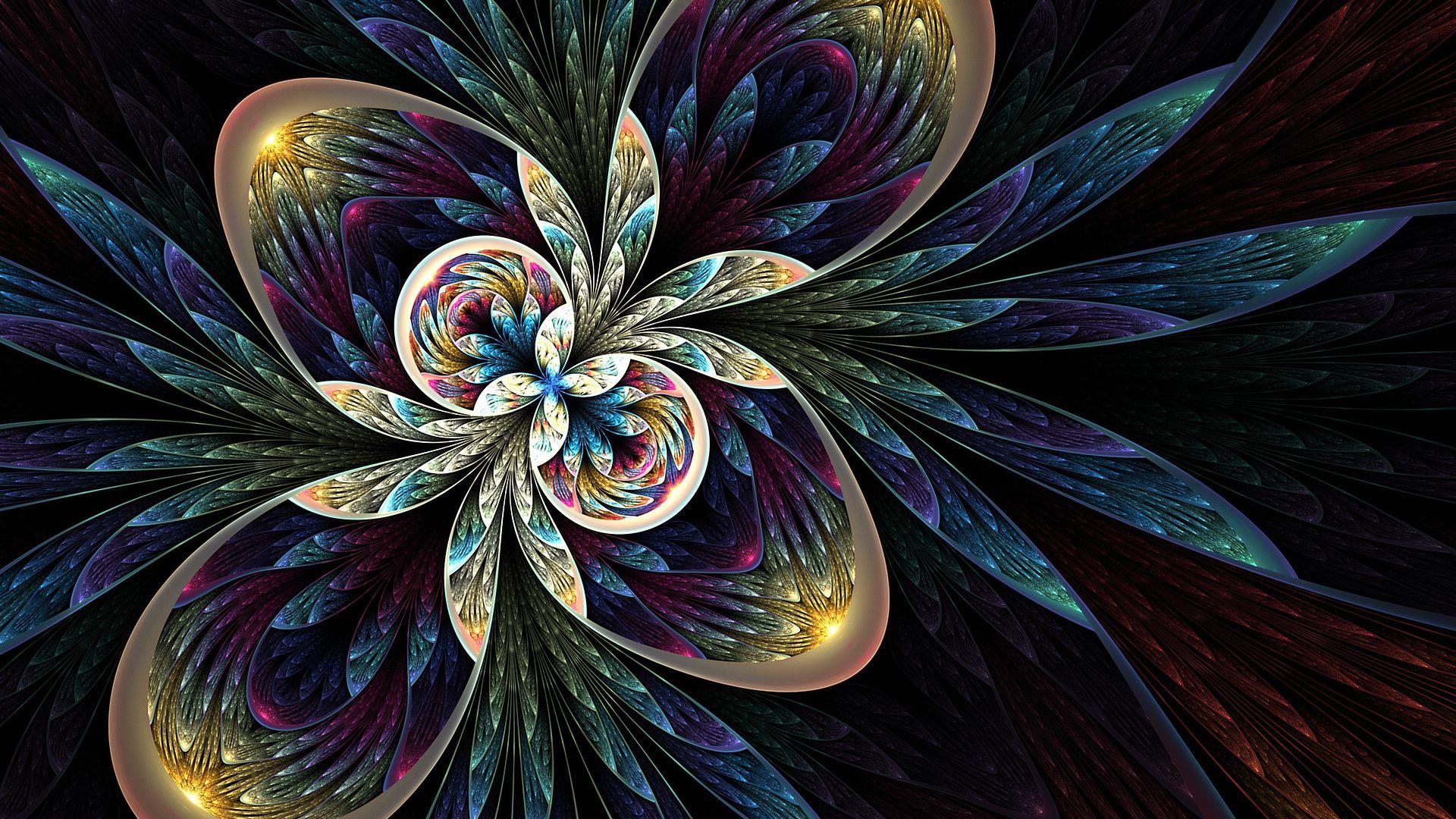 Fractal Flower free download wallpaper