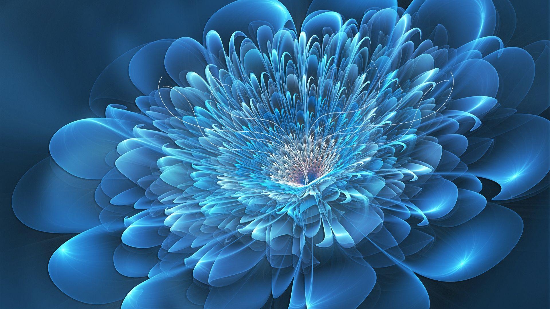 Fractal Flower beautiful wallpaper