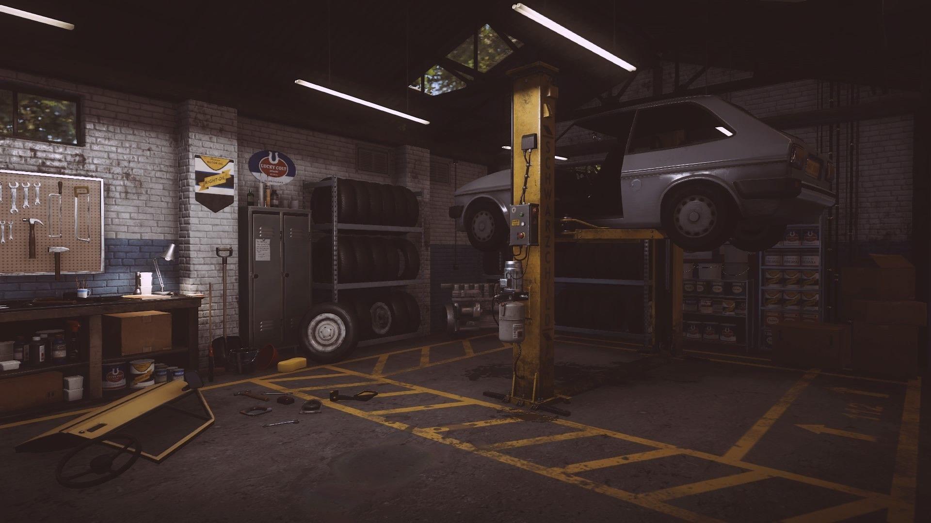 Garage wallpaper photo