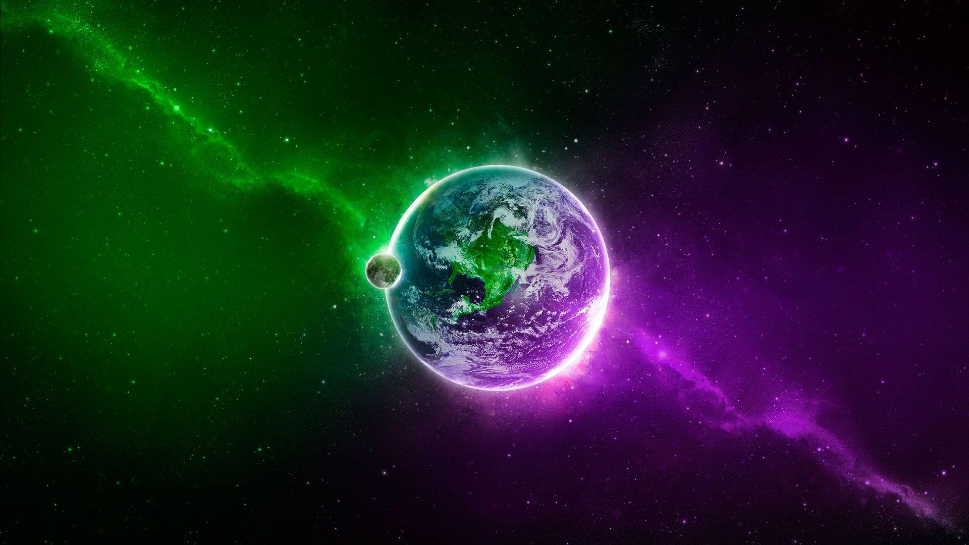 Green And Purple HD Wallpaper