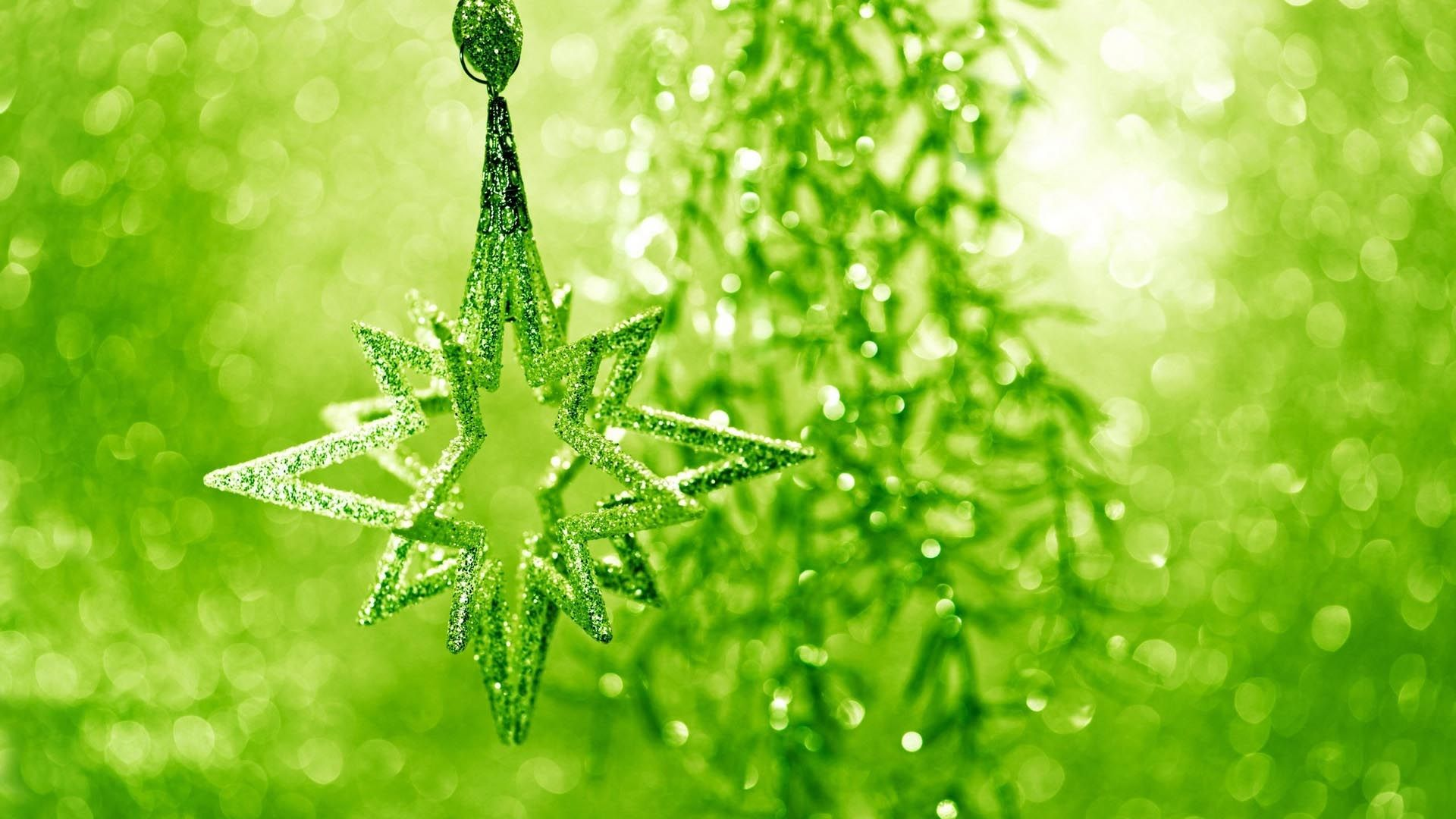 Green Christmas a wallpaper