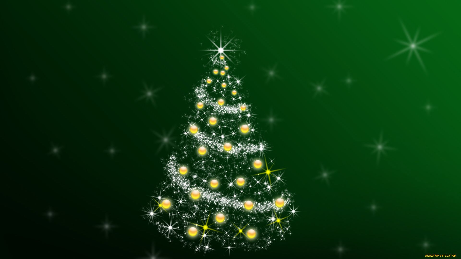 Green Christmas Free Download Wallpaper