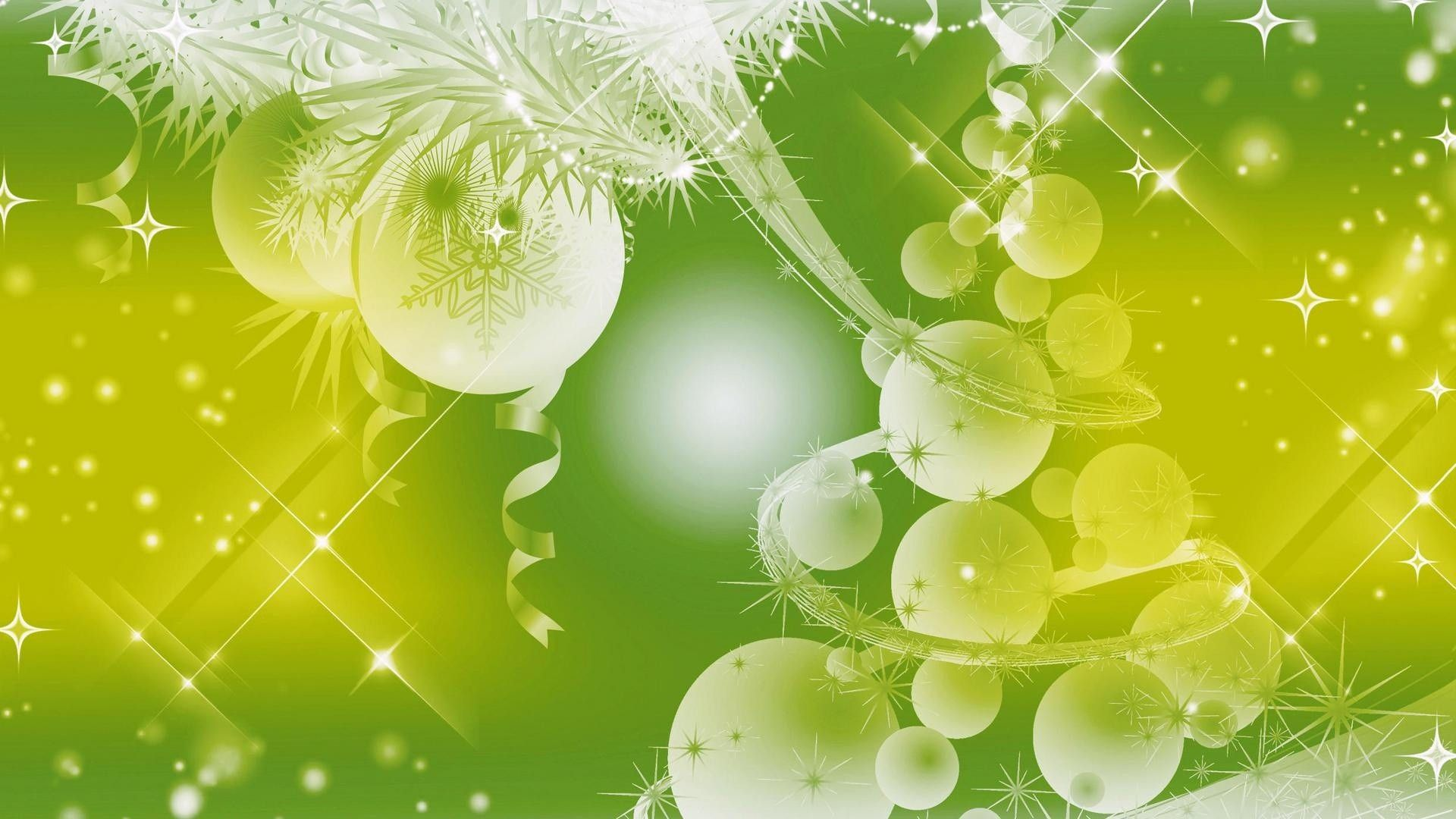 Green Christmas Wallpaper and Background