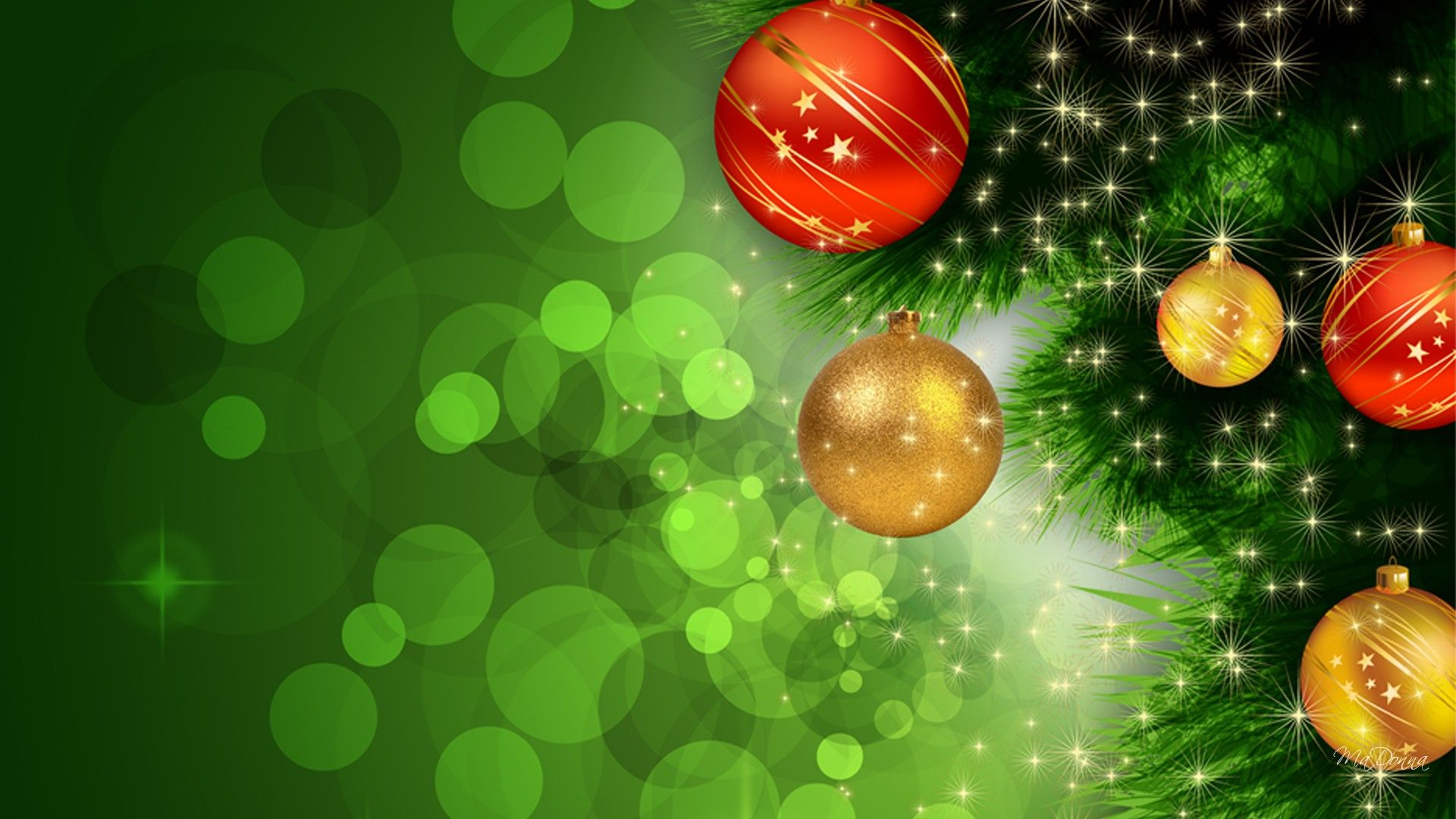 Green Christmas Nice Wallpaper