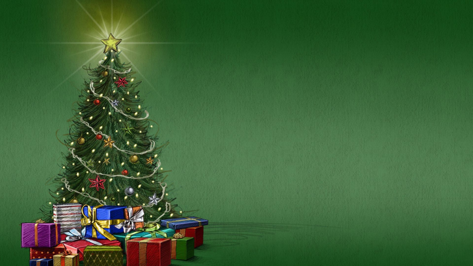 Green Christmas free hd wallpaper